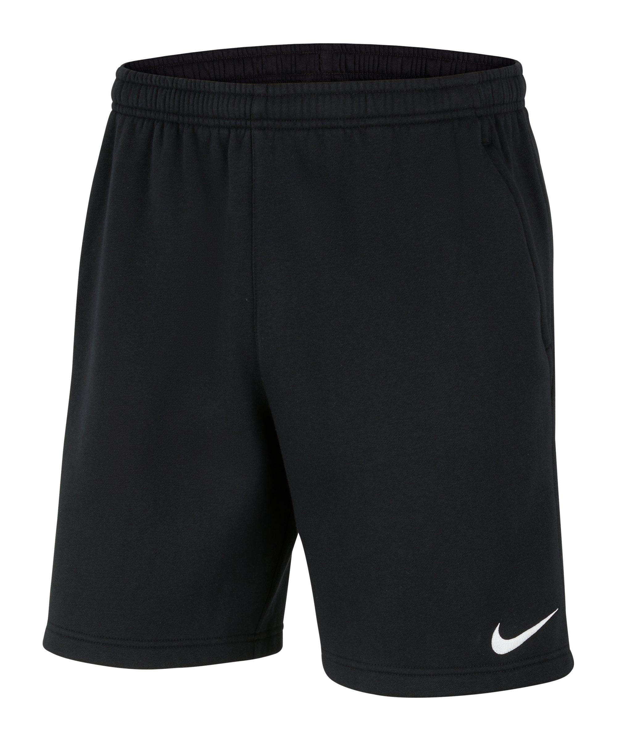 Nike Park 20 Fleece Short Schwarz F010 - schwarz