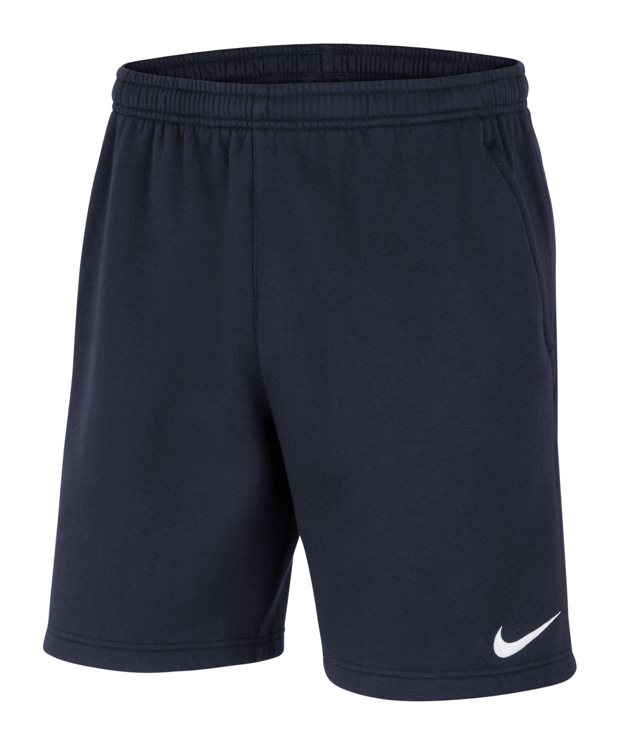 Nike Park 20 Fleece Short Kids Blau Weiss F451 - blau
