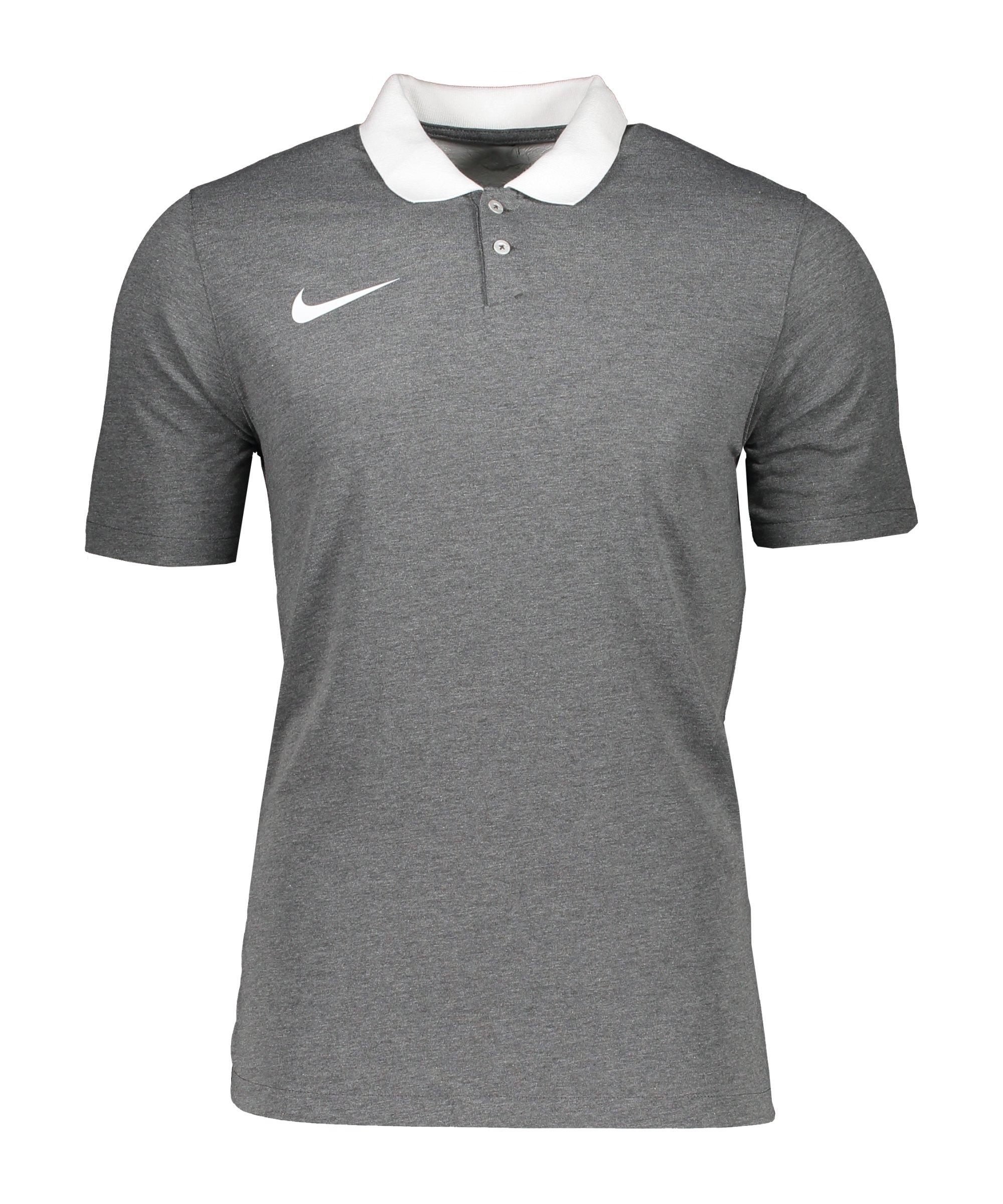 Nike Park 20 Poloshirt Grau Weiss F071 - grau