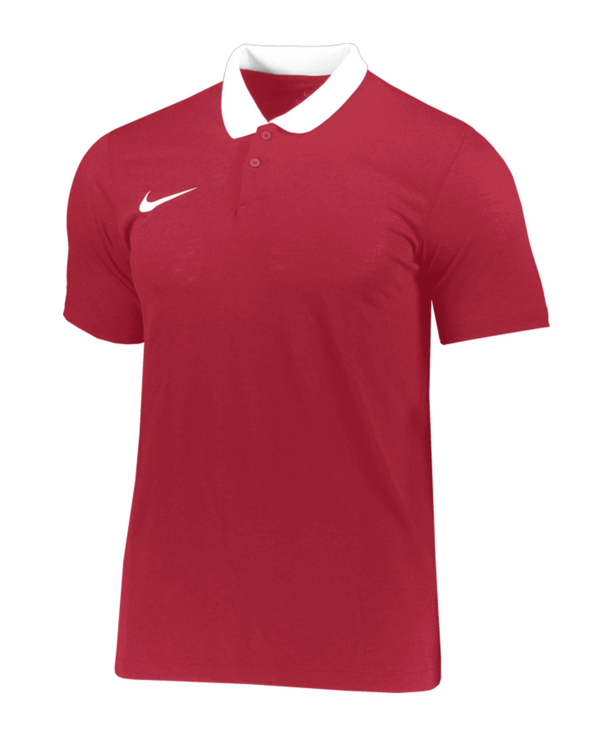 Nike Park 20 Poloshirt Rot Weiss F657 - rot