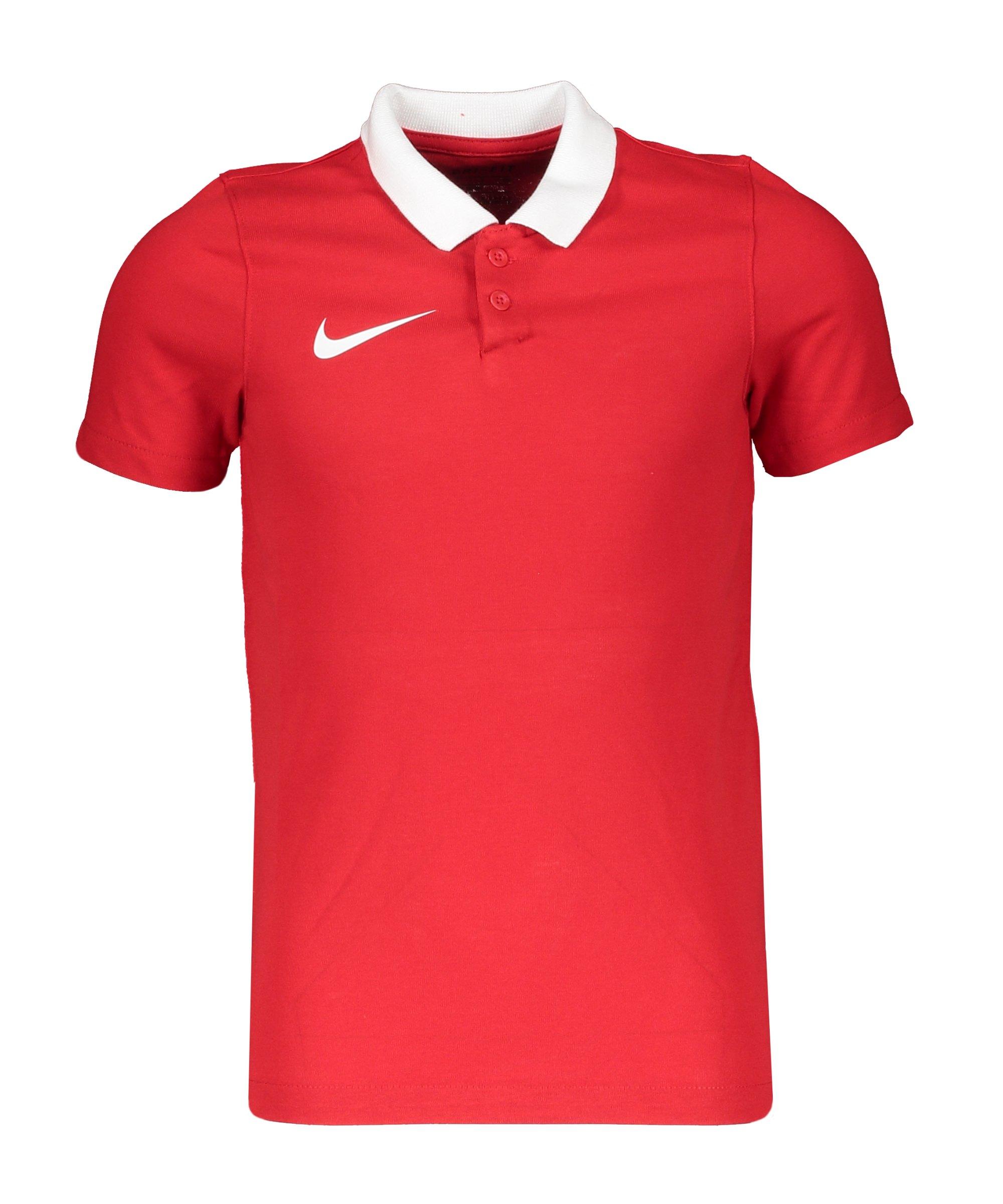 Nike Park 20 Poloshirt Kids Rot Weiss F657 - rot