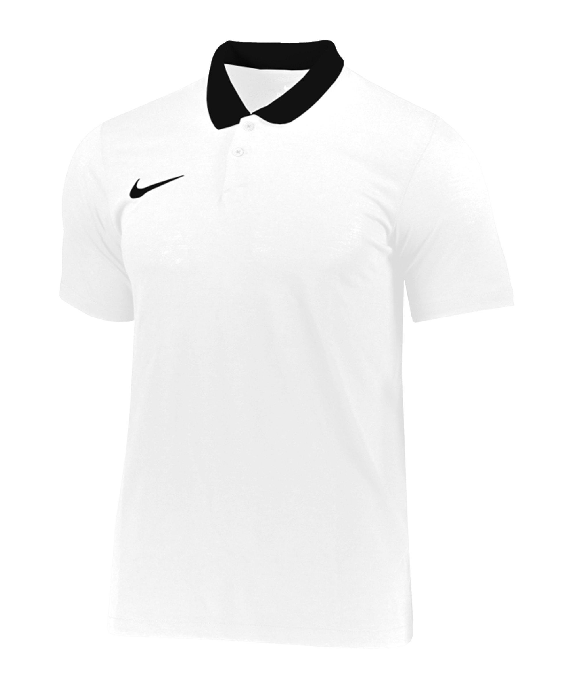 Nike Park 20 Poloshirt Kids Weiss Schwarz F100 - weiss