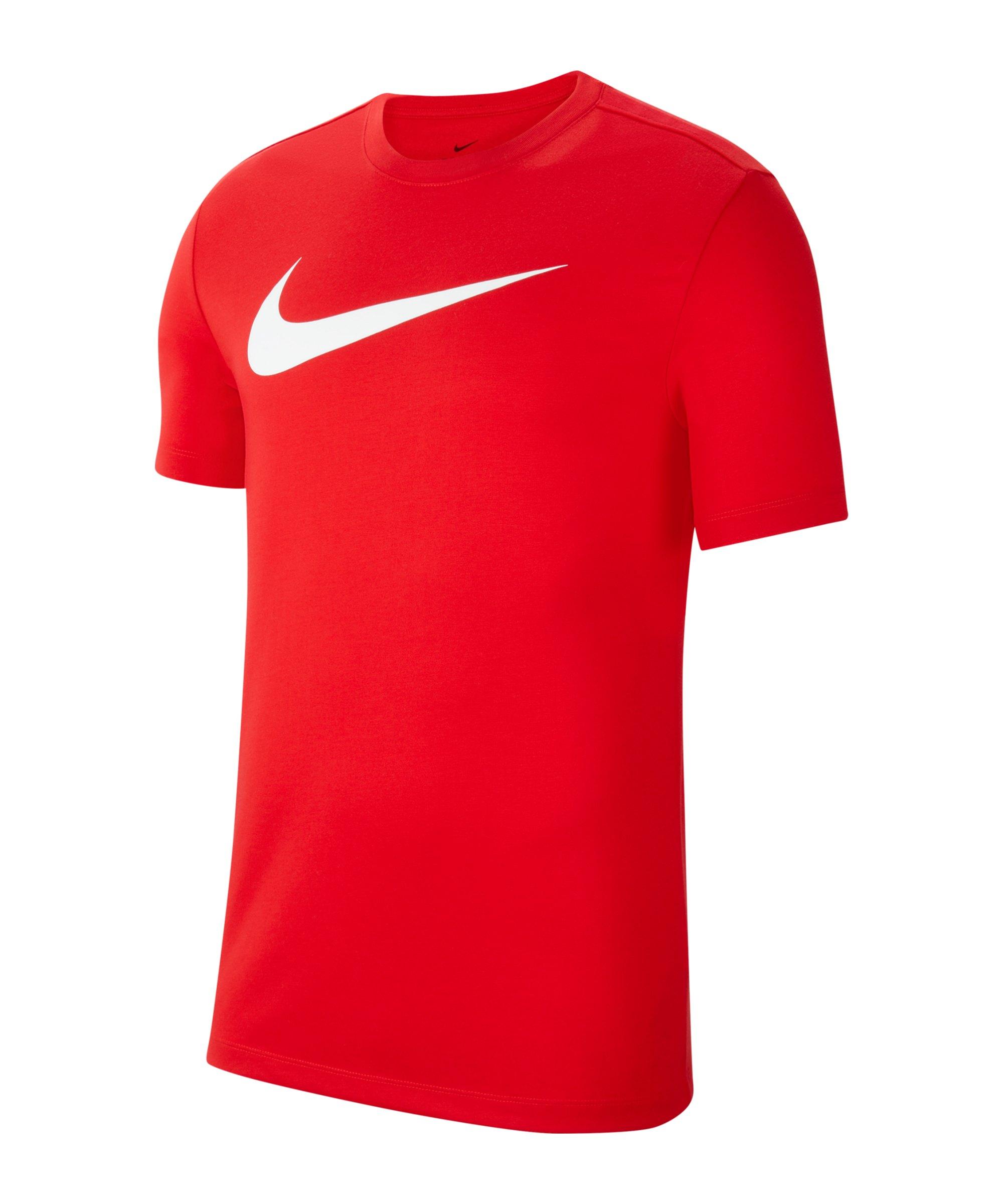 Nike Park 20 Swoosh T-Shirt Kids Rot F657 - rot