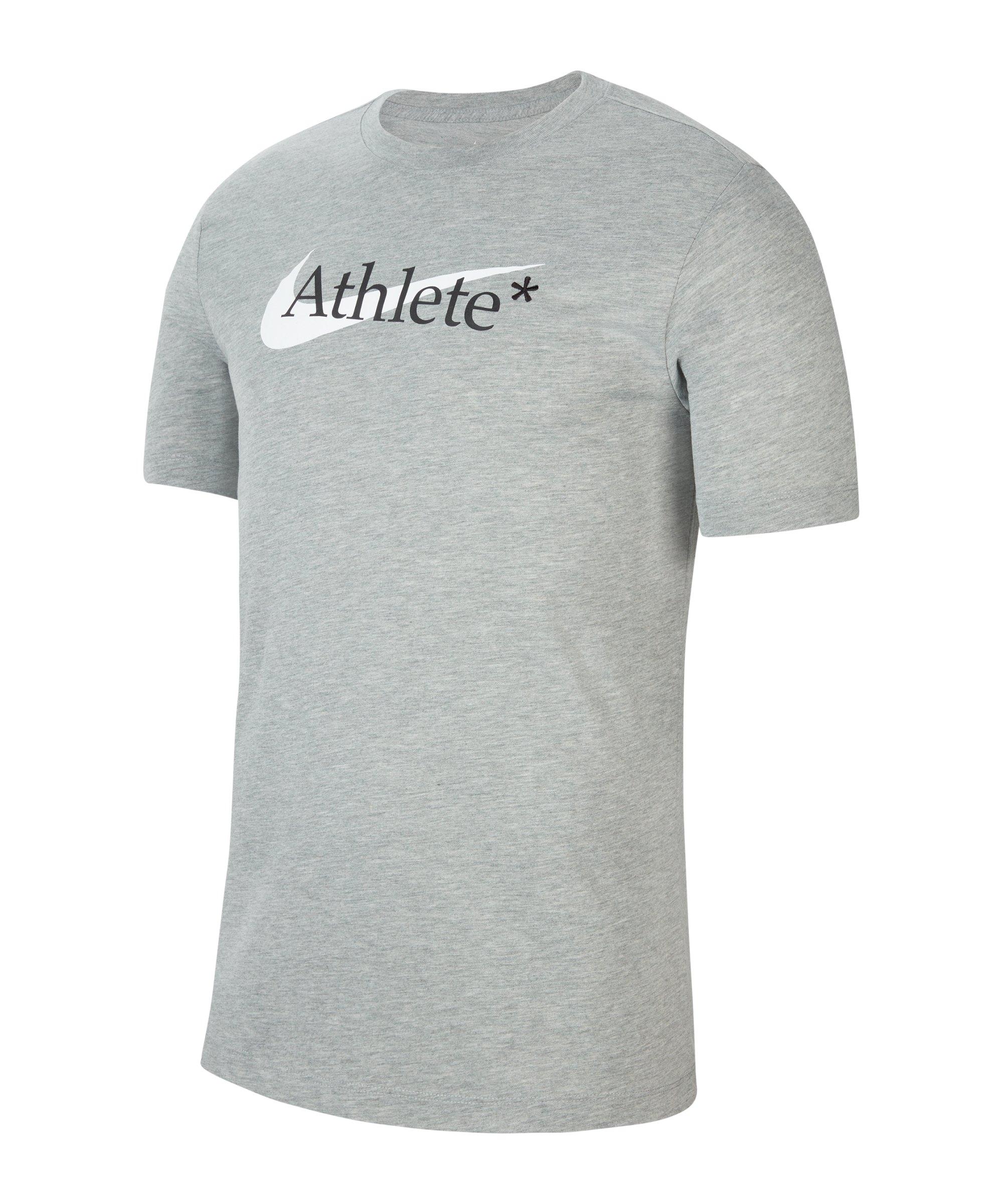 Nike Athlete Swoosh T-Shirt Grau F063 - grau