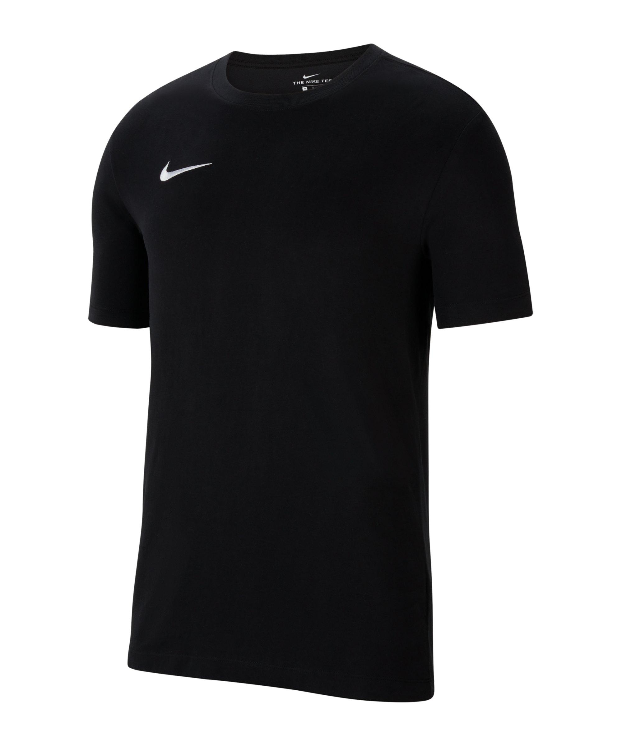 Nike Park 20 Dry T-Shirt Schwarz Weiss F010 - schwarz