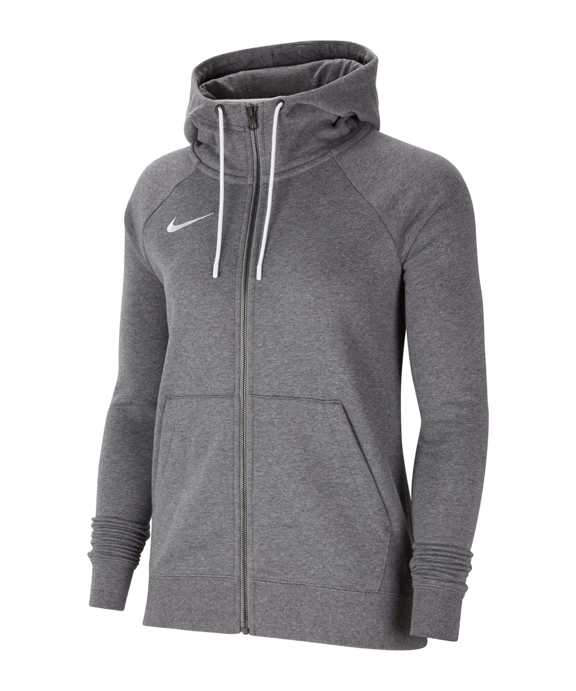Nike Park 20 Fleece Kapuzenjacke Damen Grau F071 - grau