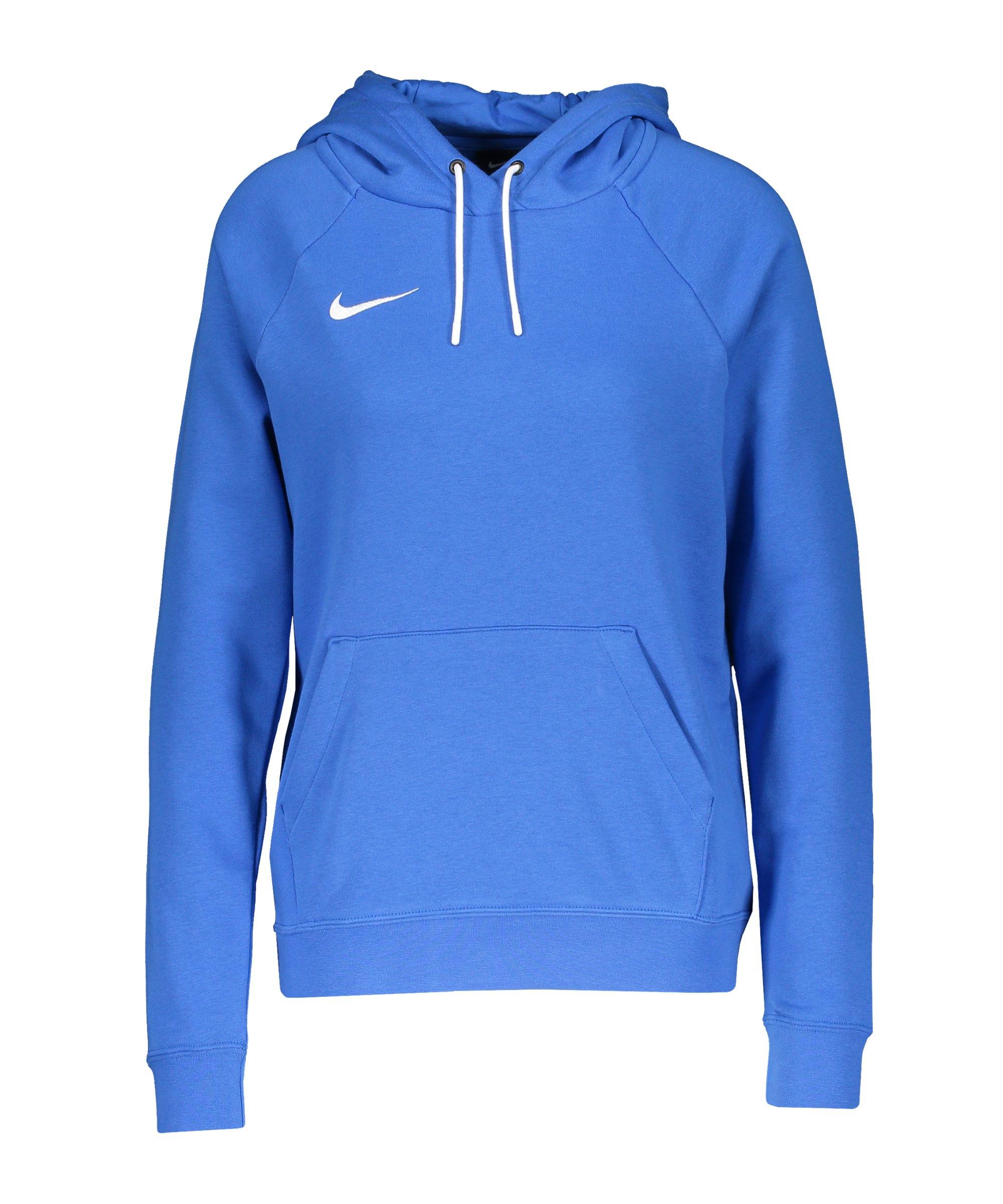 Nike Park 20 Fleece Hoody Damen Blau Weiss F463 - blau