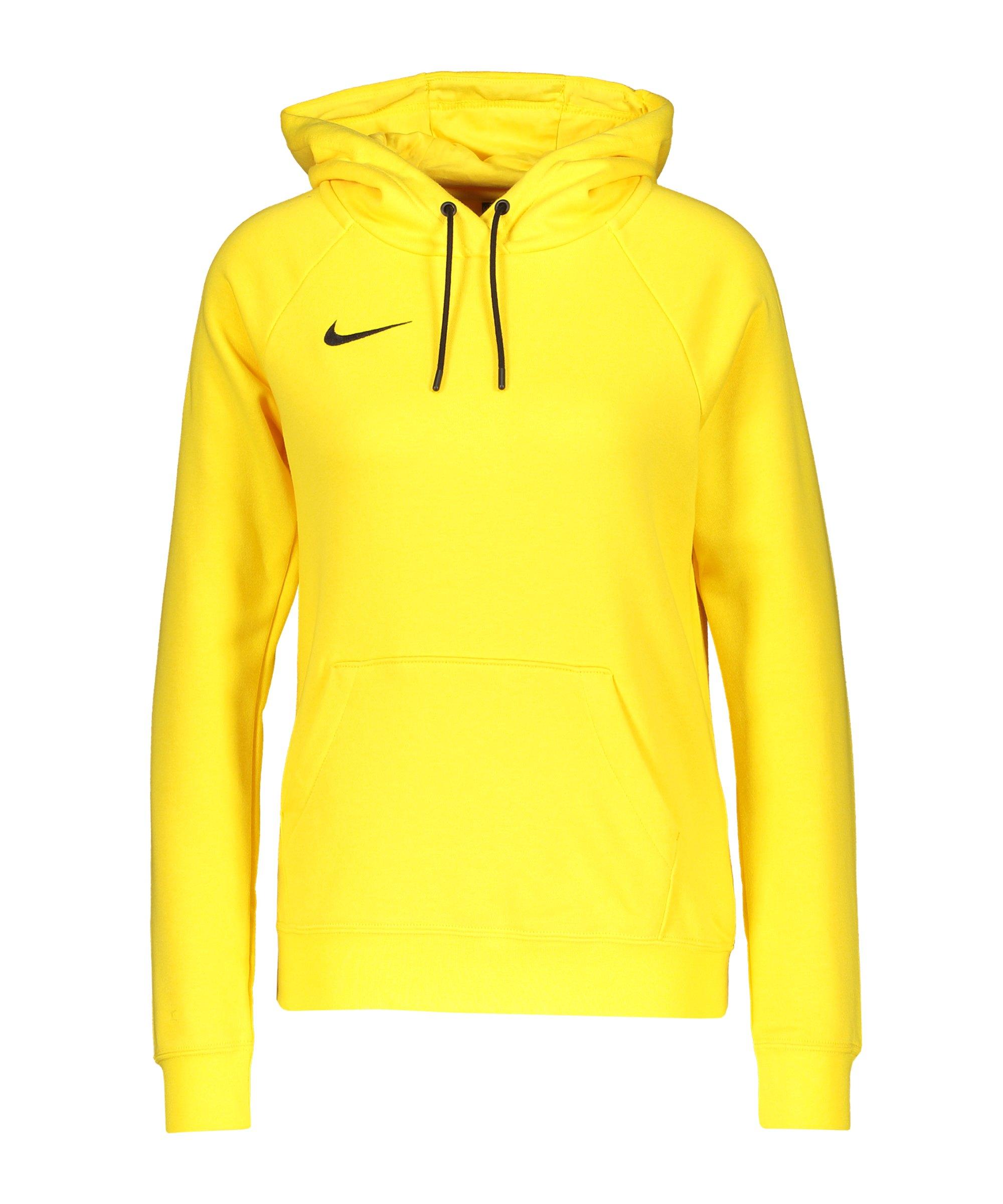 Nike Park 20 Fleece Hoody Damen Gelb Schwarz F719 - gelb