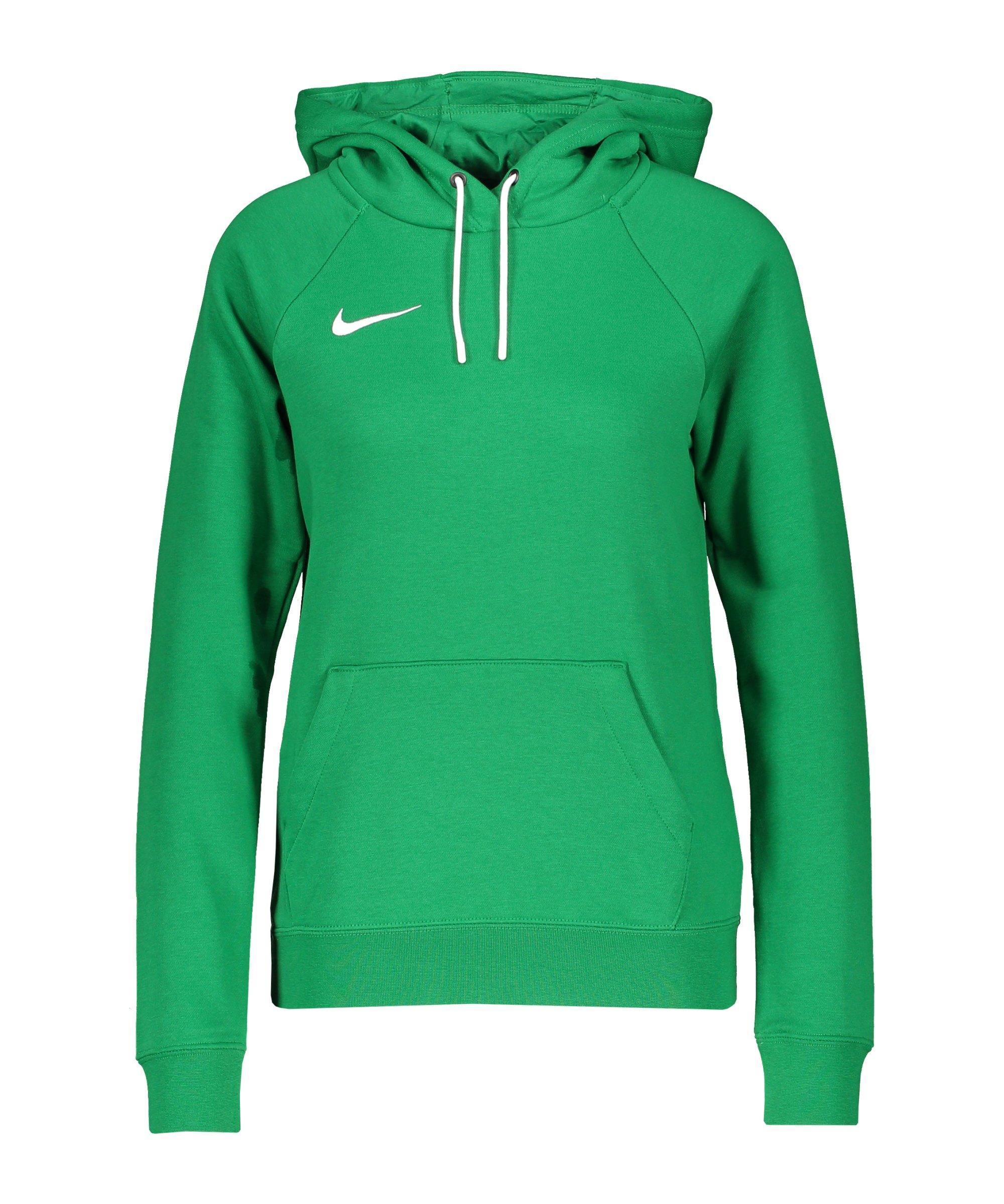 Nike Park 20 Fleece Hoody Damen Grün Weiss F302 - gruen