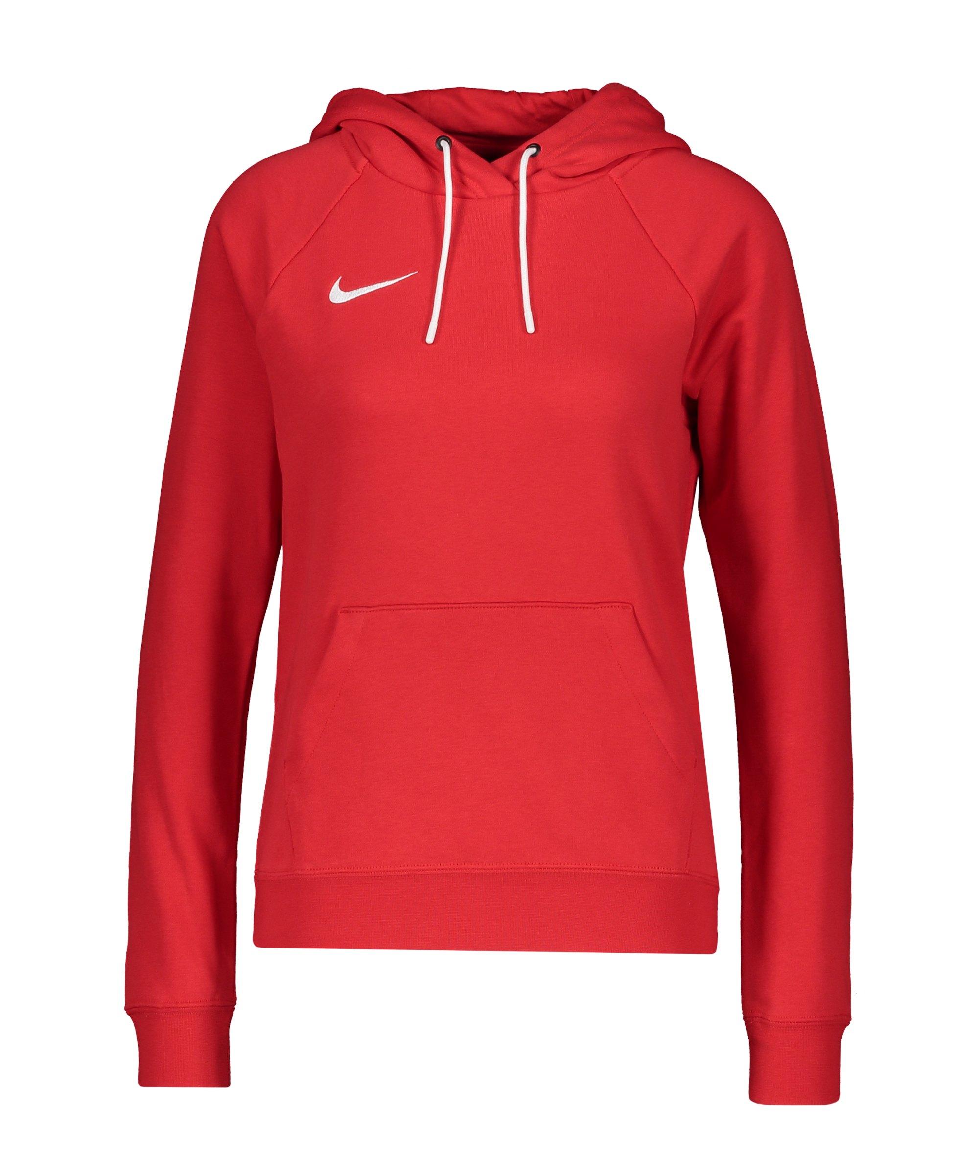 Nike Park 20 Fleece Hoody Damen Rot Weiss F657 - rot
