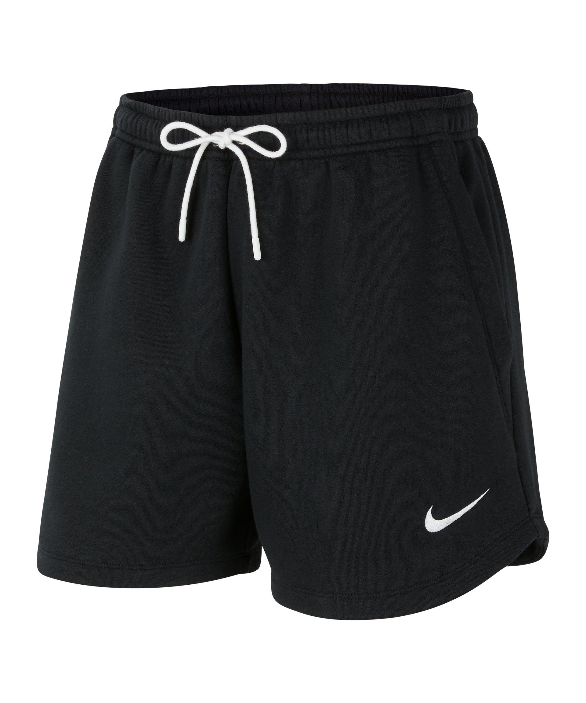 Nike Park 20 Fleece Short Damen Schwarz Weiss F010 - schwarz