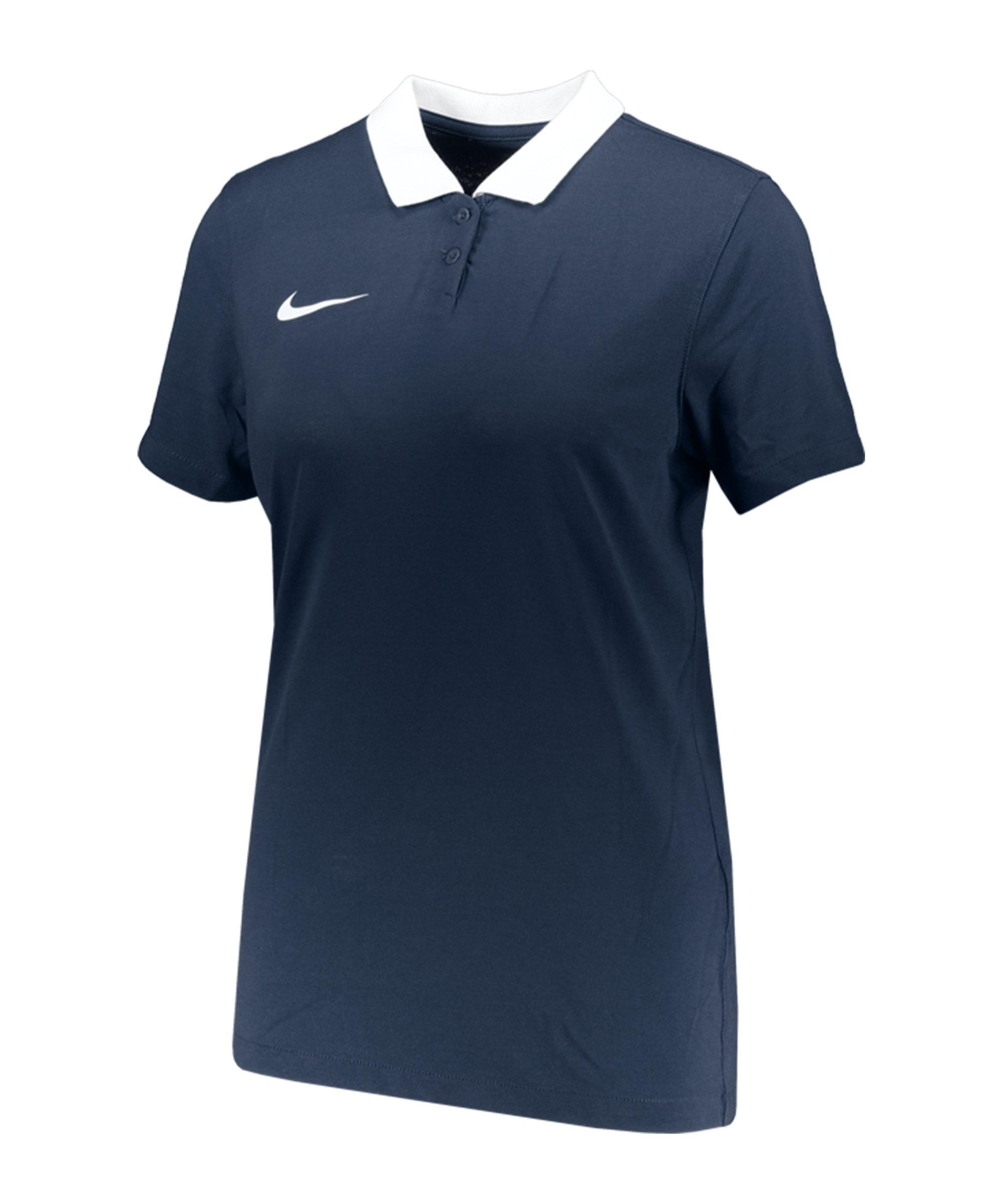 Nike Park 20 Poloshirt Damen Blau Weiss F451 - blau