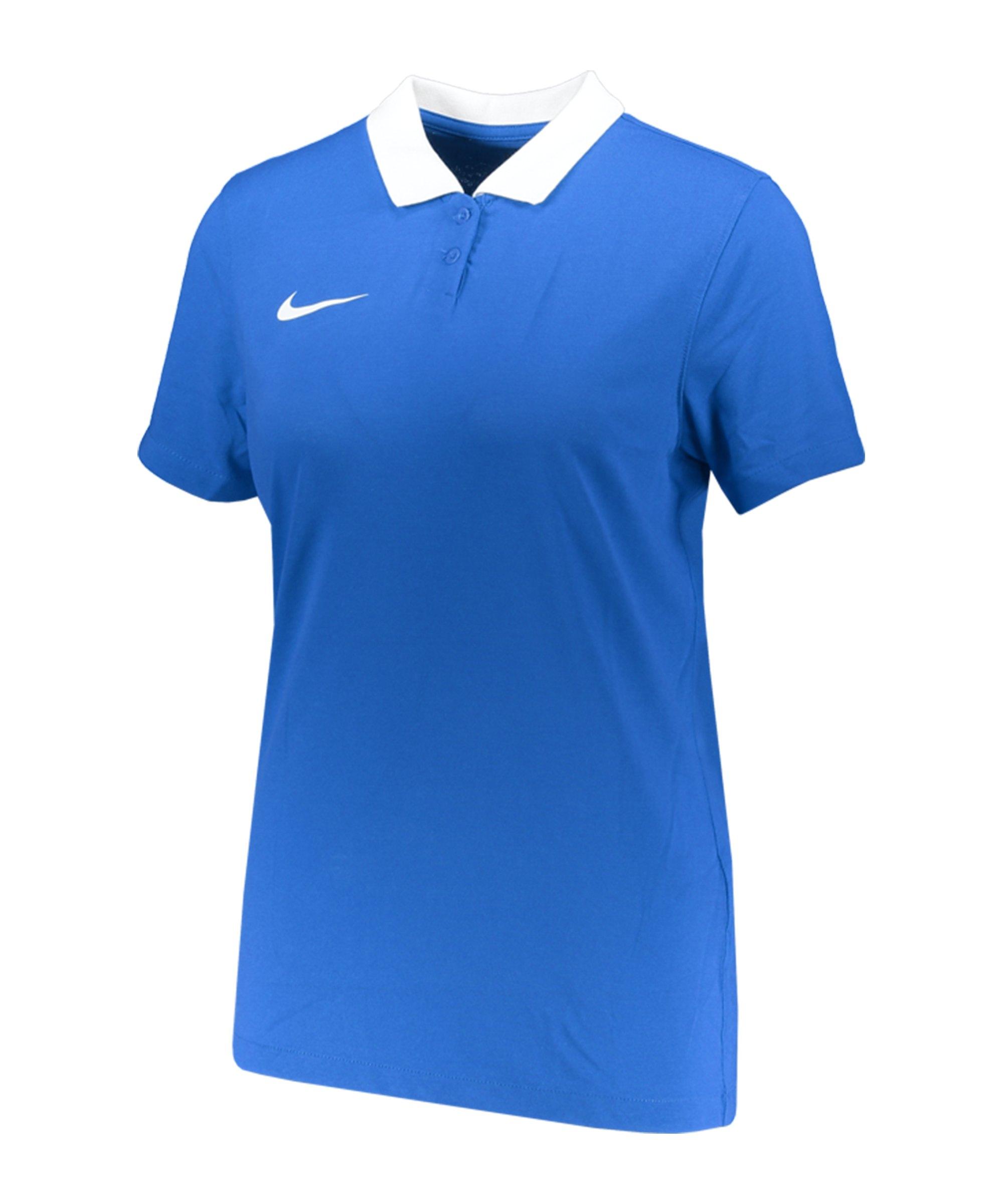 Nike Park 20 Poloshirt Damen Blau Weiss F463 - blau