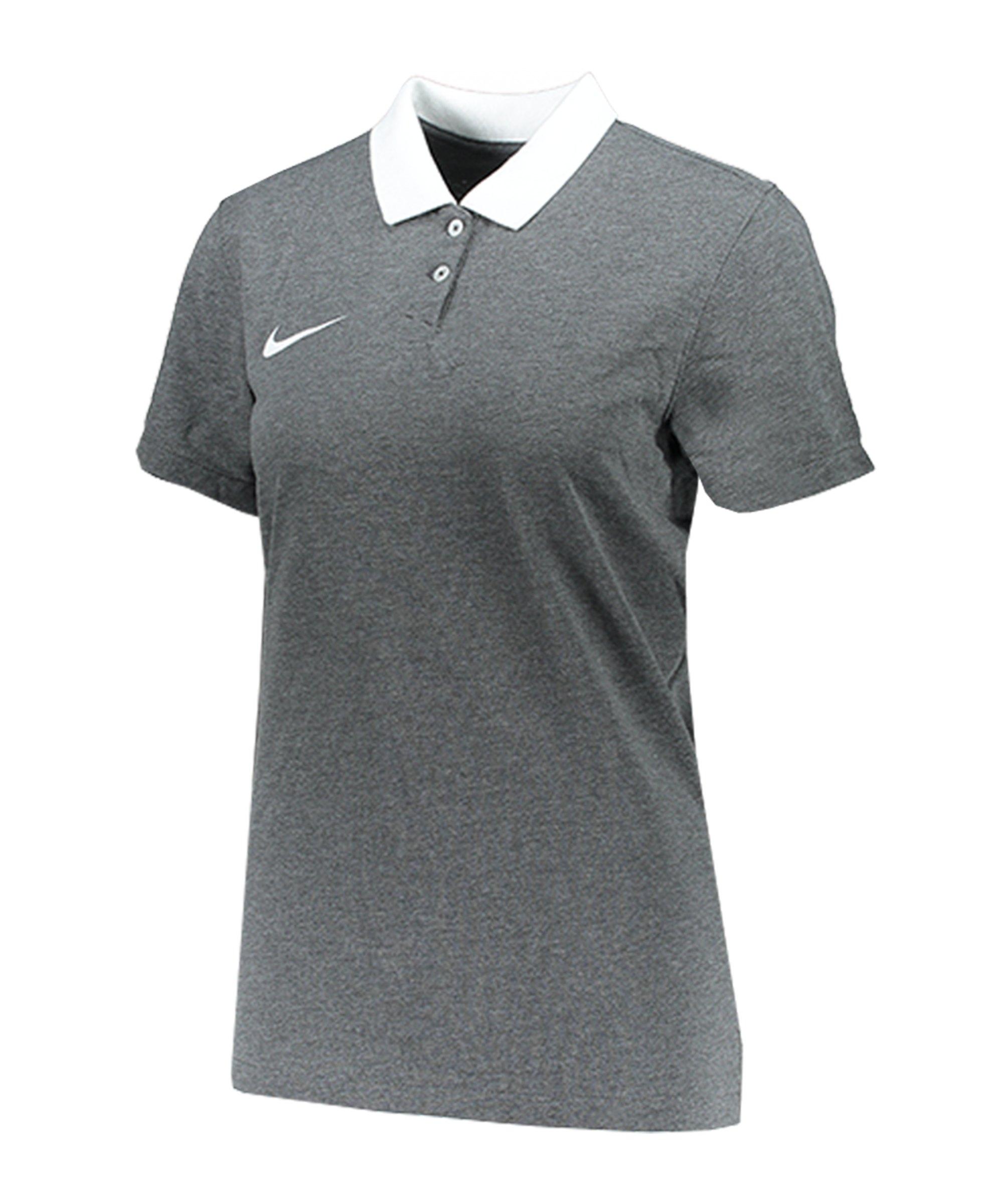 Nike Park 20 Poloshirt Damen Grau Weiss F071 - grau
