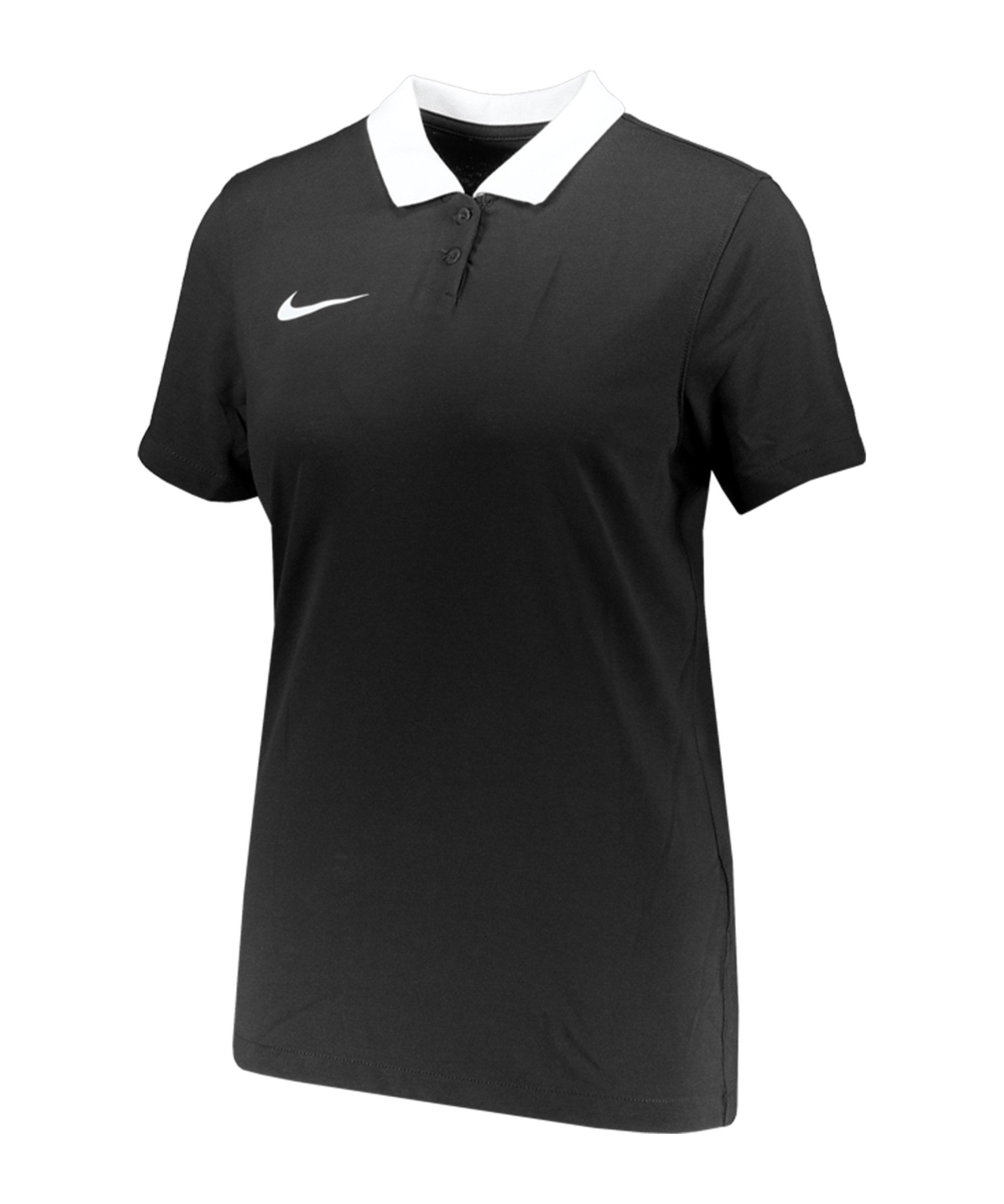 Nike Park 20 Poloshirt Damen Schwarz Weiss F010 - schwarz