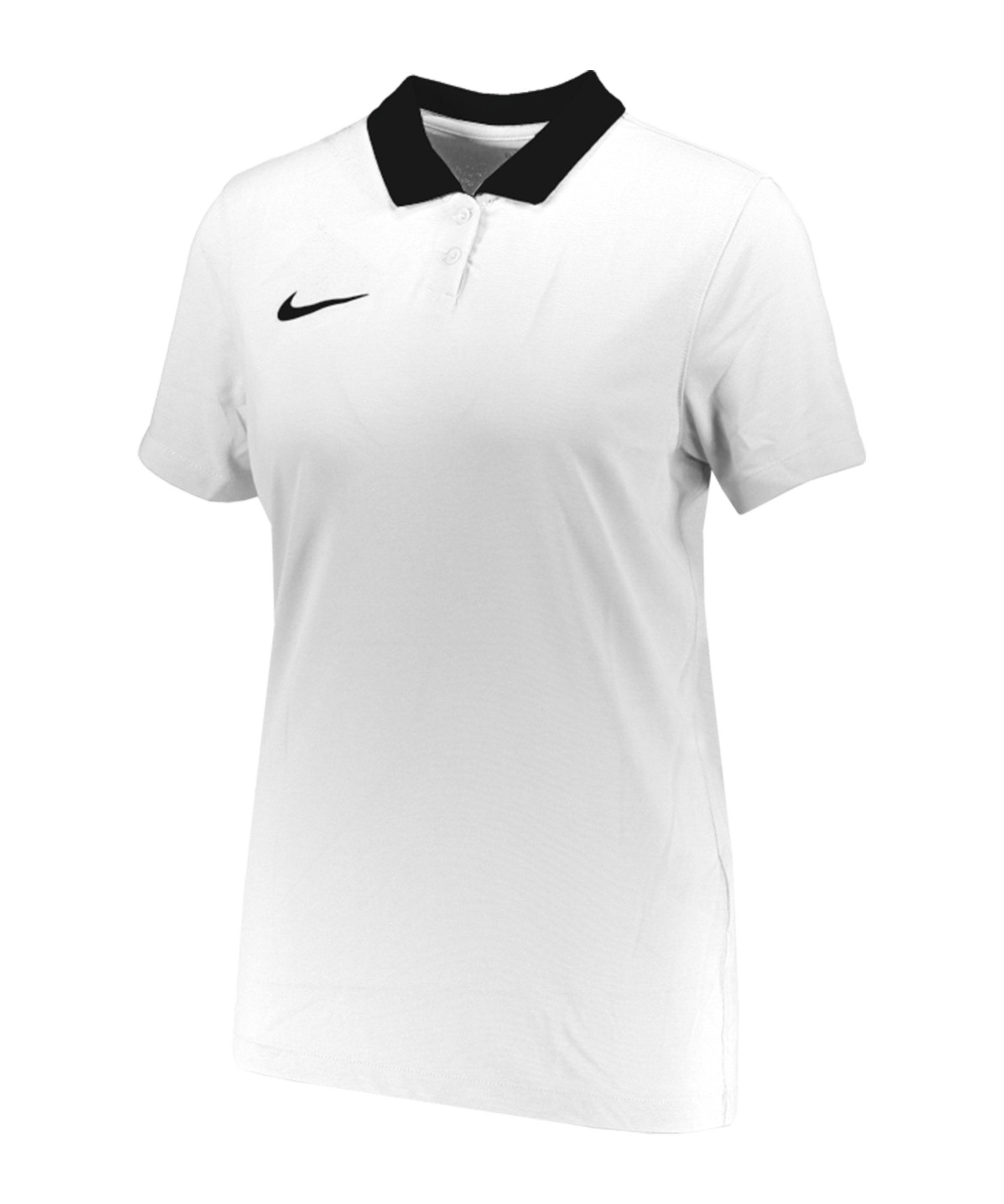 Nike Park 20 Poloshirt Damen Weiss Schwarz F100 - weiss