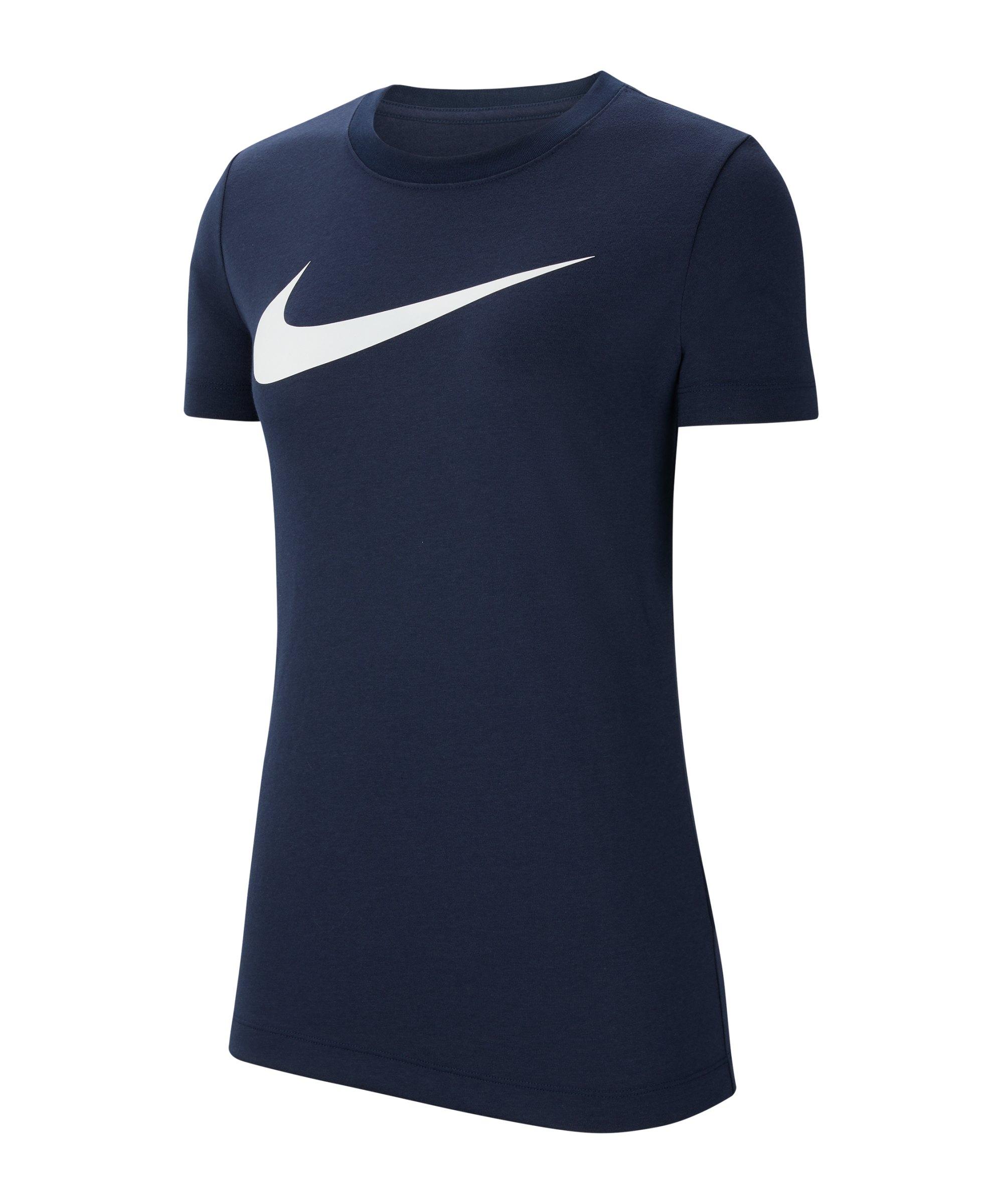 Nike Park 20 T-Shirt Swoosh Damen Blau F451 - blau