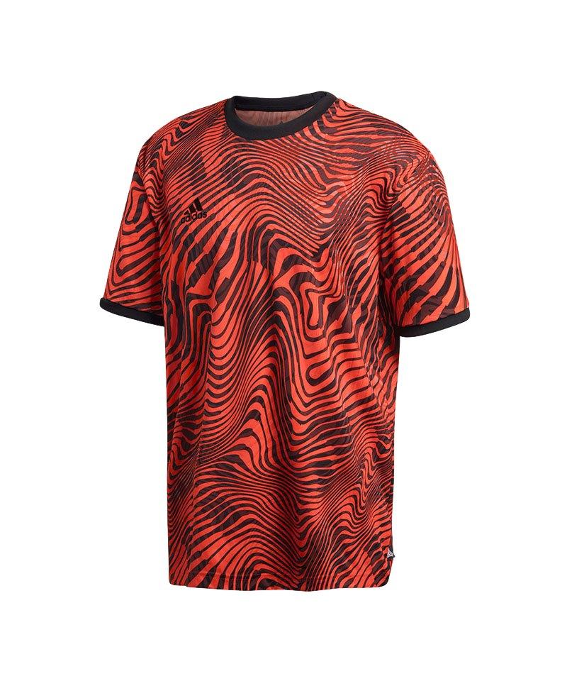 adidas Tango Engineered T-Shirt Rot - rot