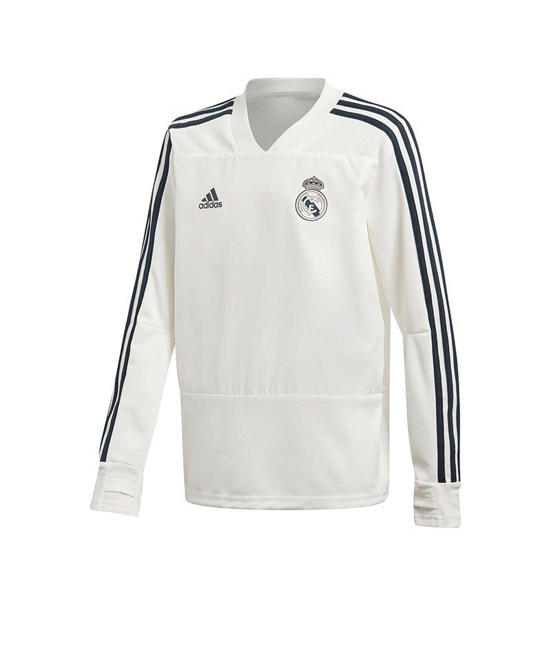 adidas Real Madrid Training Sweatshirt Kids Weiss - weiss