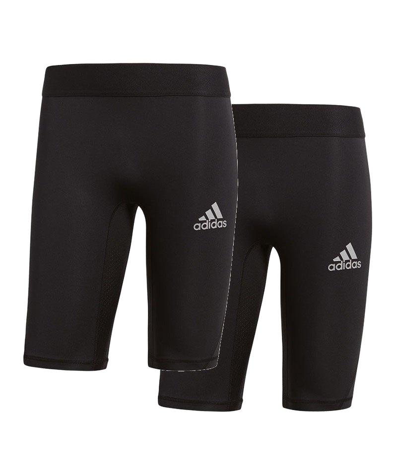adidas Alphaskin Sport Short 2er Set Schwarz - schwarz