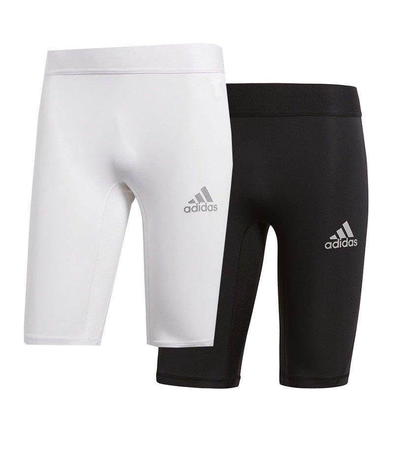 adidas Alphaskin Sport Short 2er Set Schwarz Weiss - schwarz