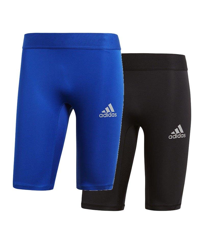 adidas Alphaskin Sport Short 2er Set Schwarz Blau - schwarz