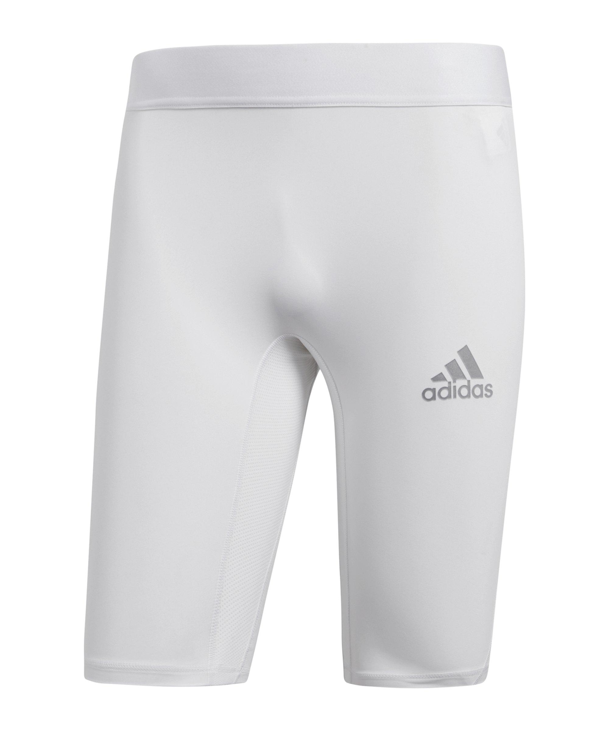 adidas Alphaskin Sport Short Weiss - weiss