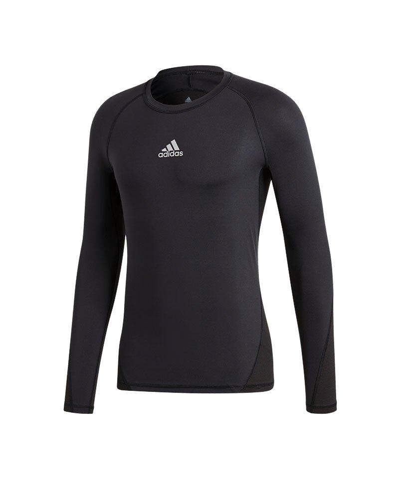 adidas Alphaskin Sport Shirt Longsleeve Schwarz - schwarz