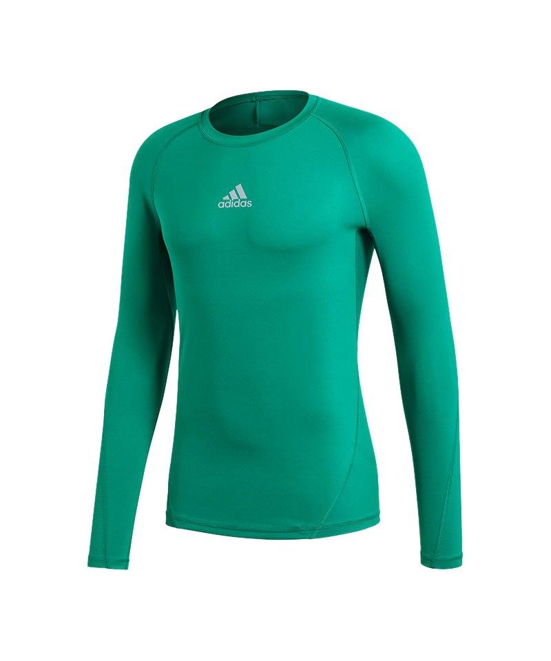 adidas Alphaskin Sport Shirt Longsleeve Grün - gruen