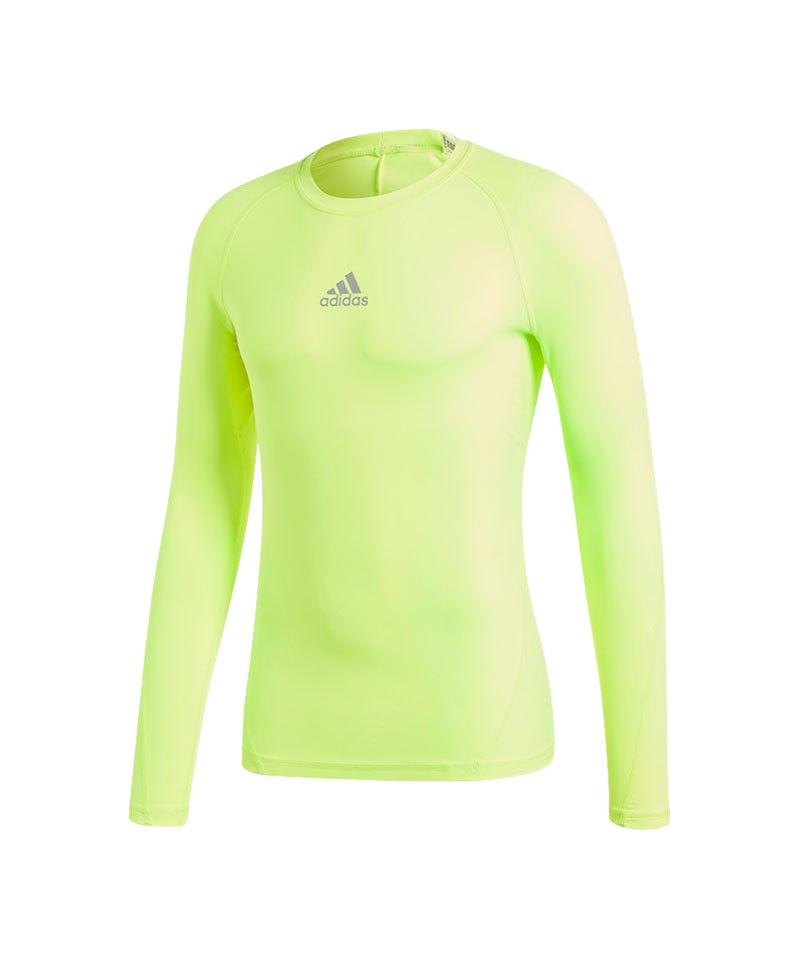 adidas Alphaskin Sport Shirt Longsleeve Gelb - gelb