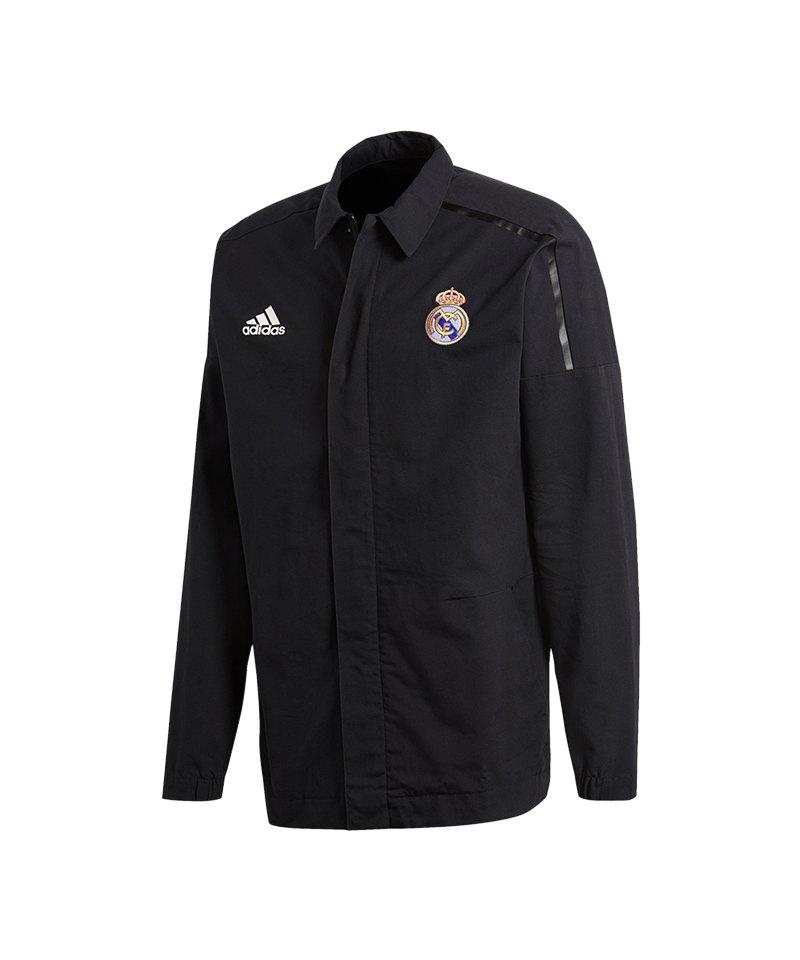 adidas Real Madrid Z.N.E. Jacket Woven Schwarz - schwarz