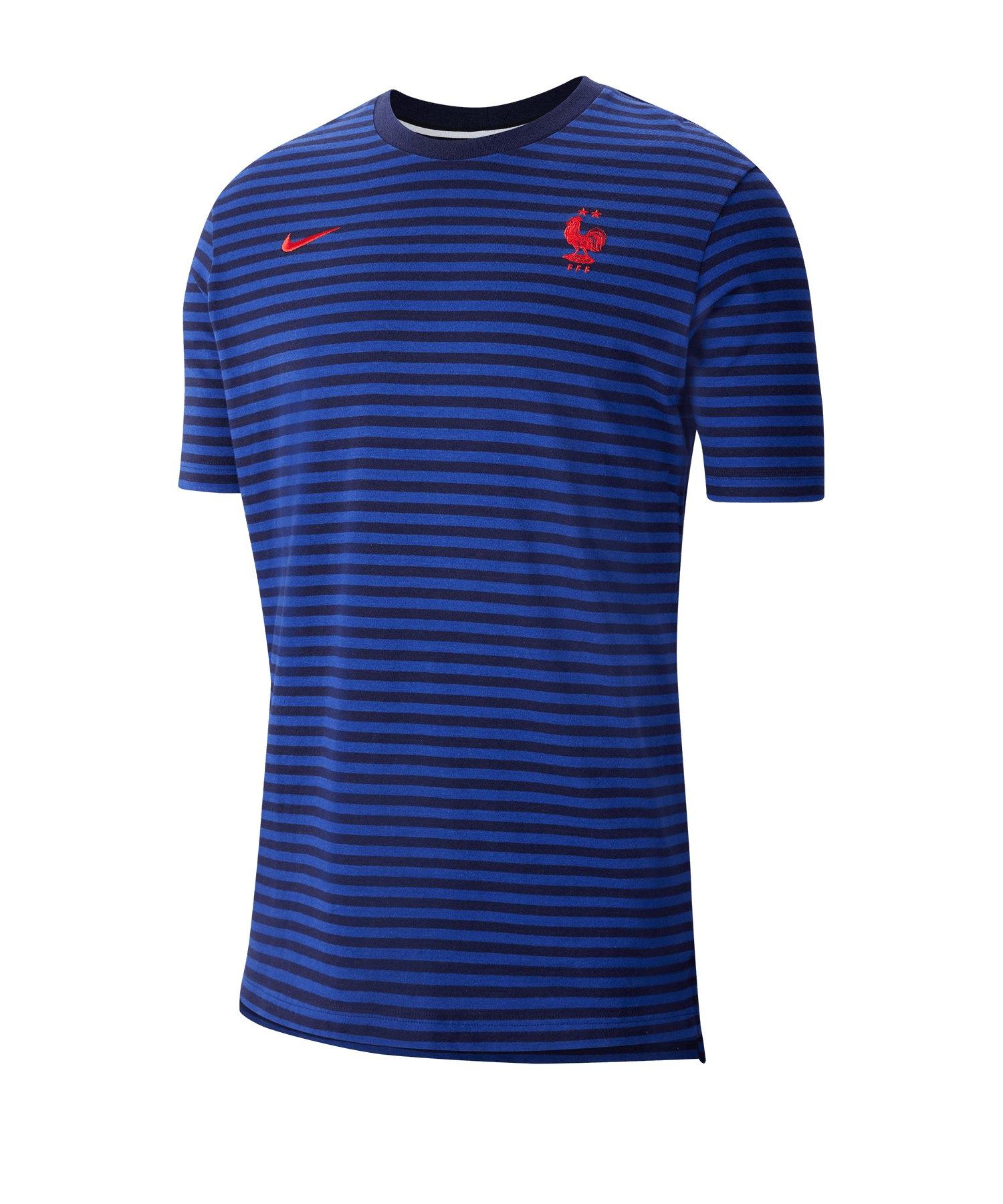Nike Frankreich Nike Air Top T-Shirt Blau F498 - blau