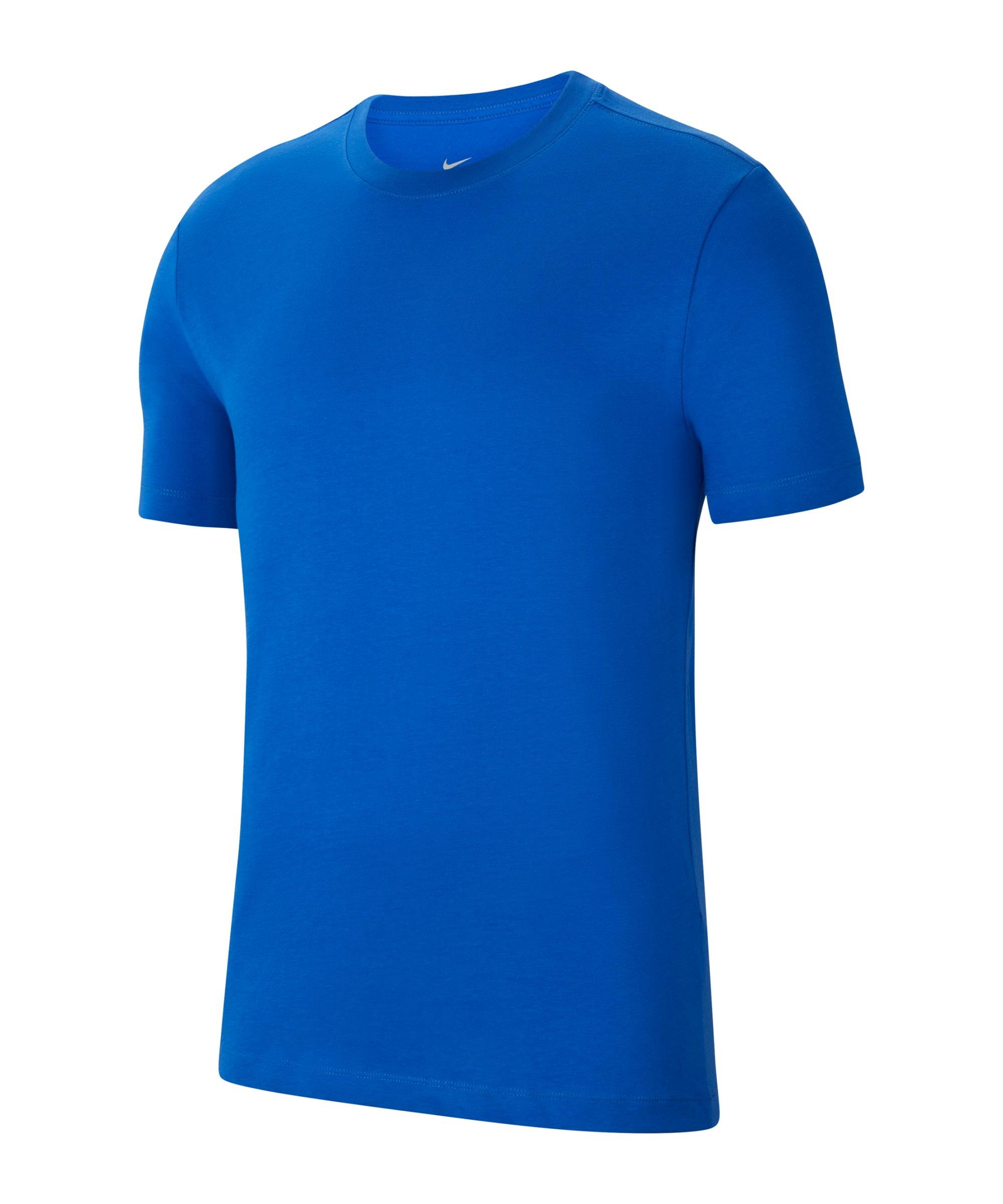 Nike Park 20 T-Shirt Blau Weiss F463 - blau