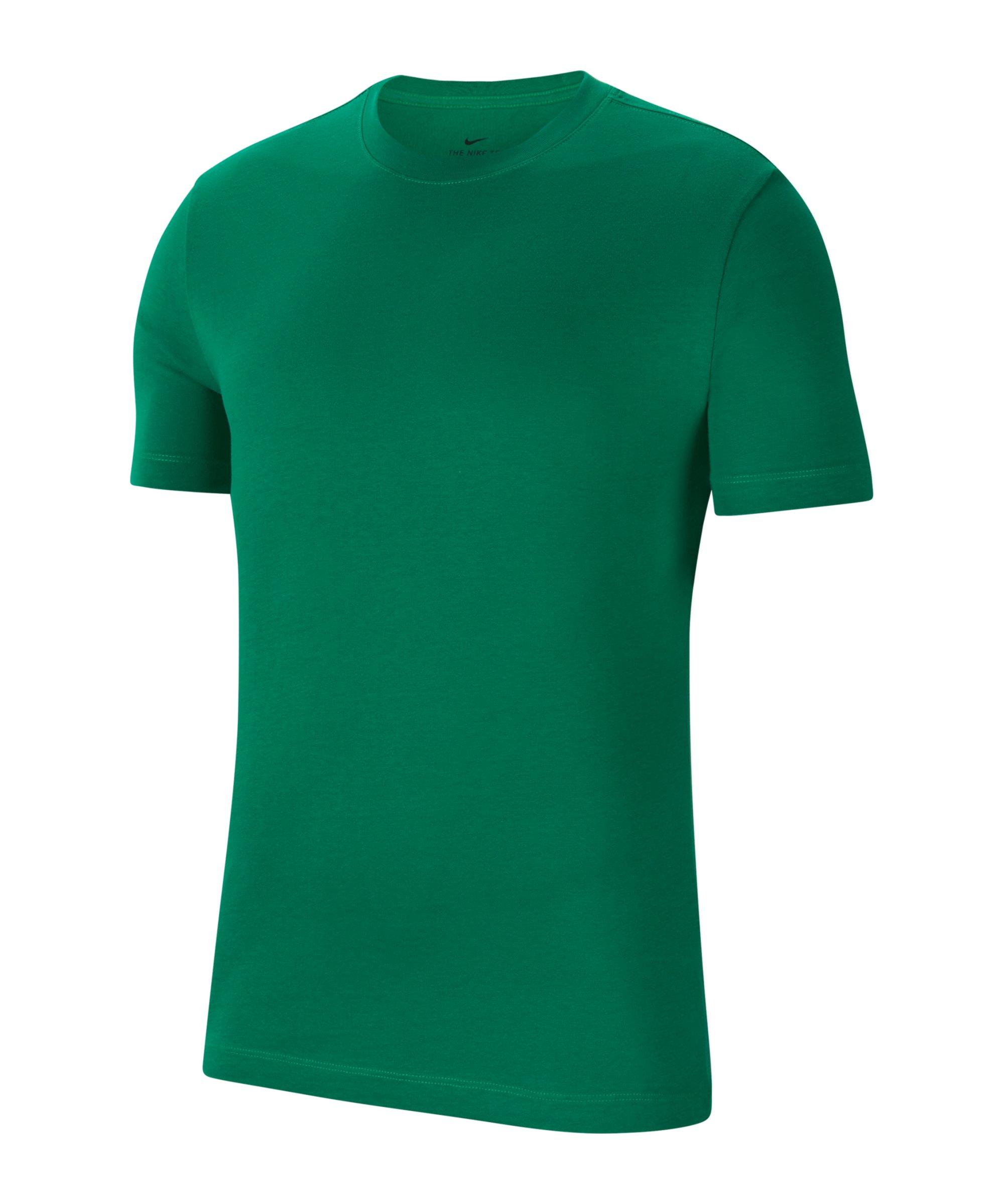 Nike Park 20 T-Shirt Grün Weiss F302 - gruen
