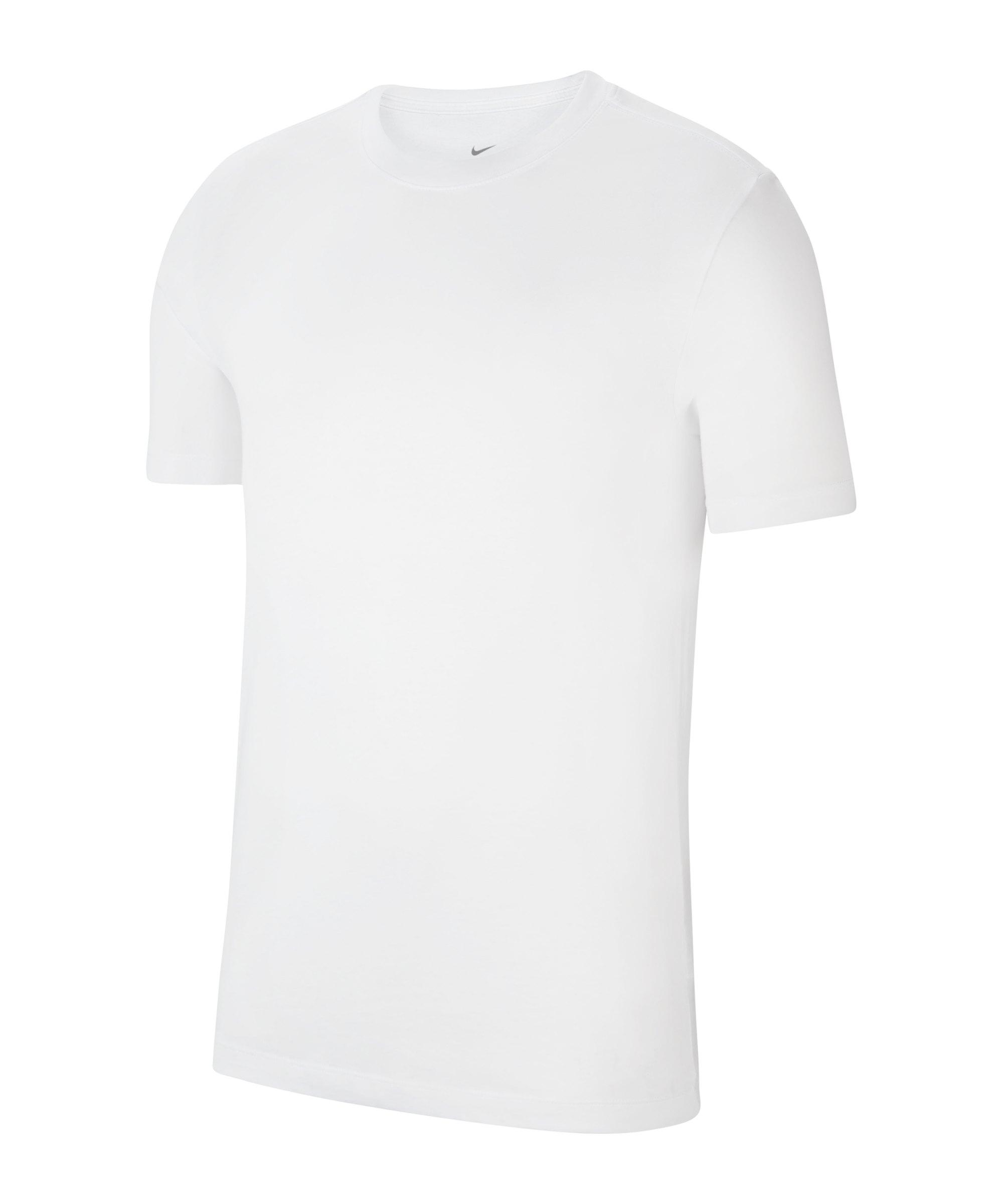 Nike Park 20 T-Shirt Weiss Schwarz F100 - weiss