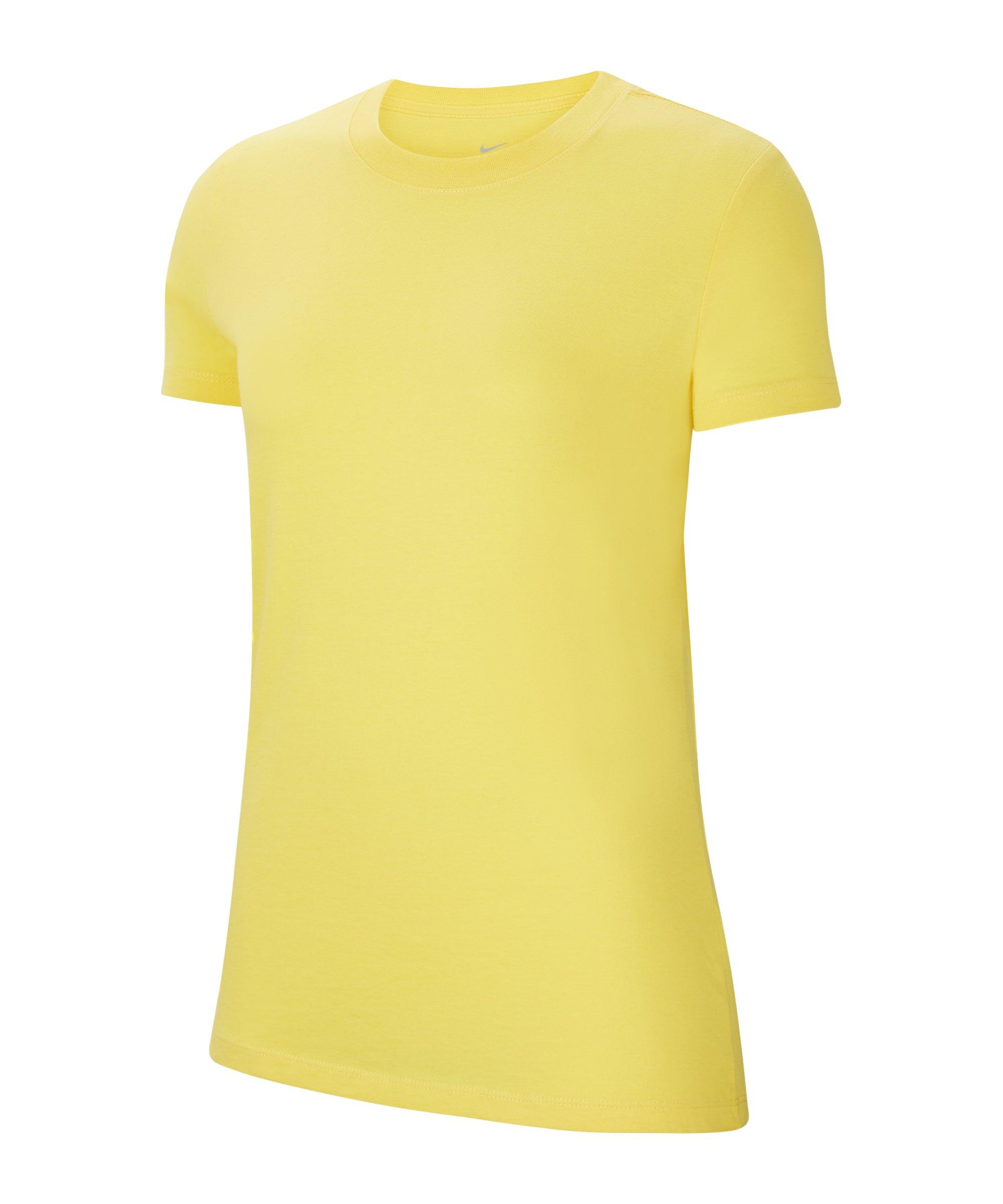 Nike Park 20 T-Shirt Damen Gelb Schwarz F719 - gelb
