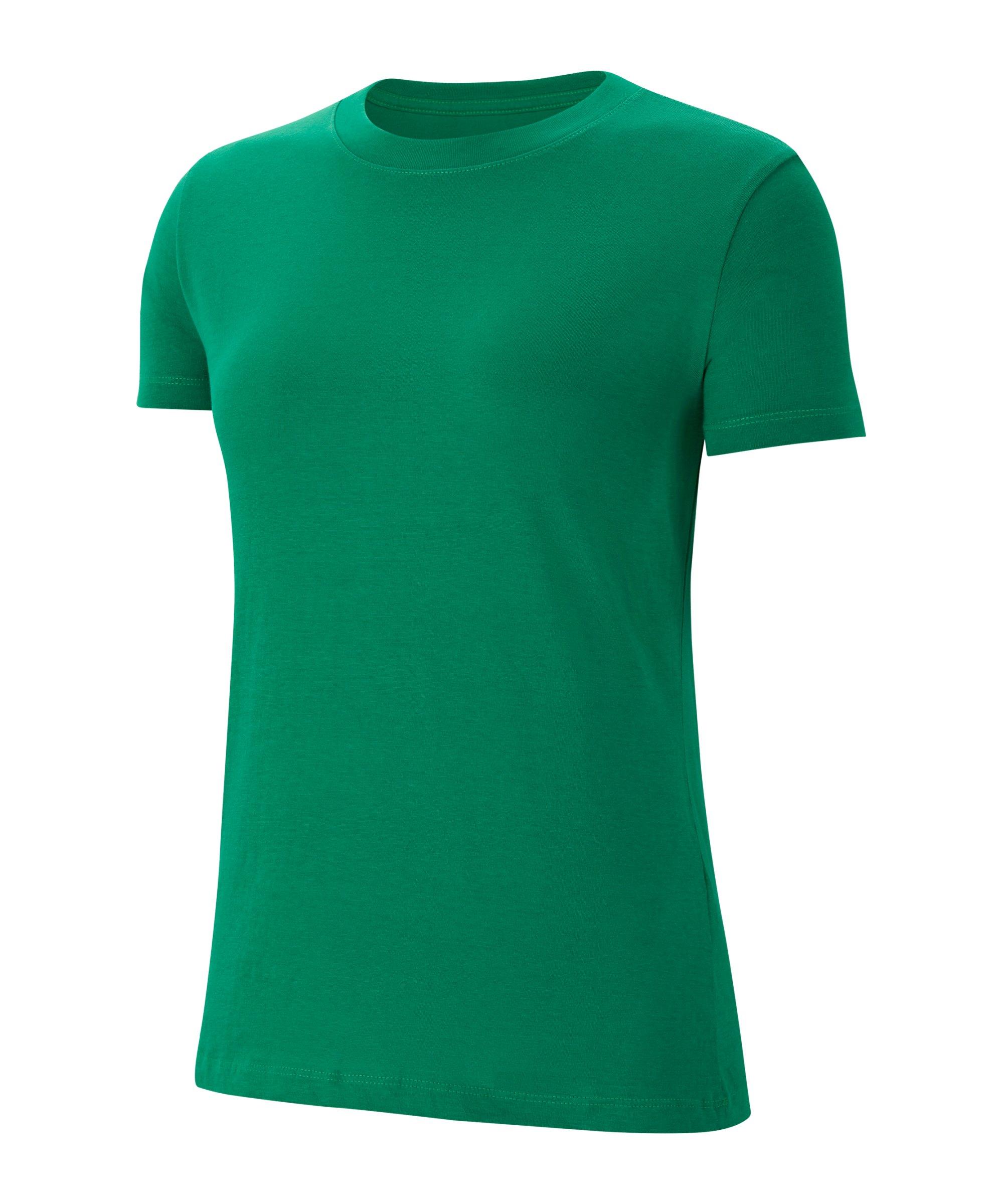 Nike Park 20 T-Shirt Damen Grün Weiss F302 - gruen