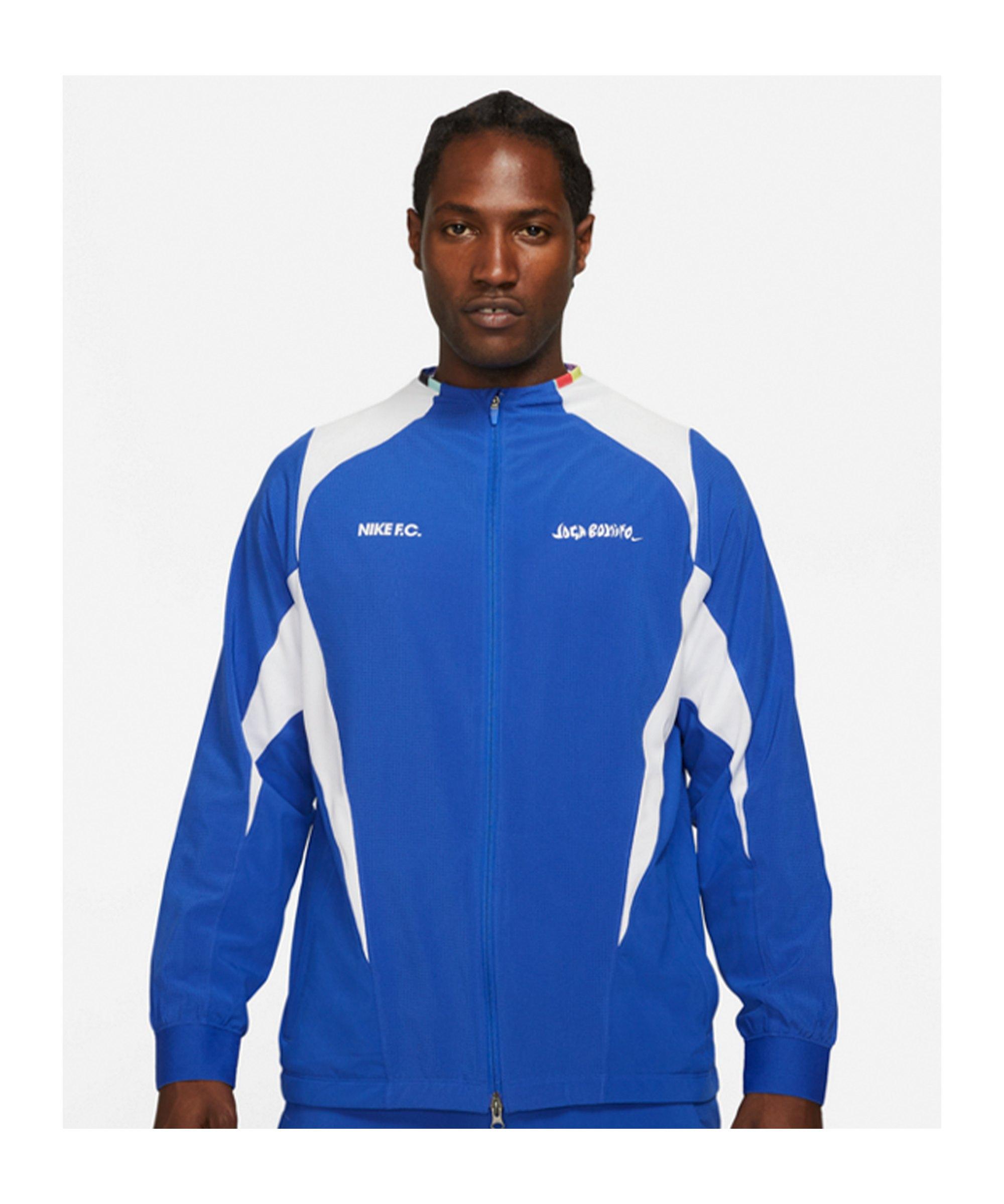 Nike F.C. Joga Bonito Woven Jacke Blau F480 - blau