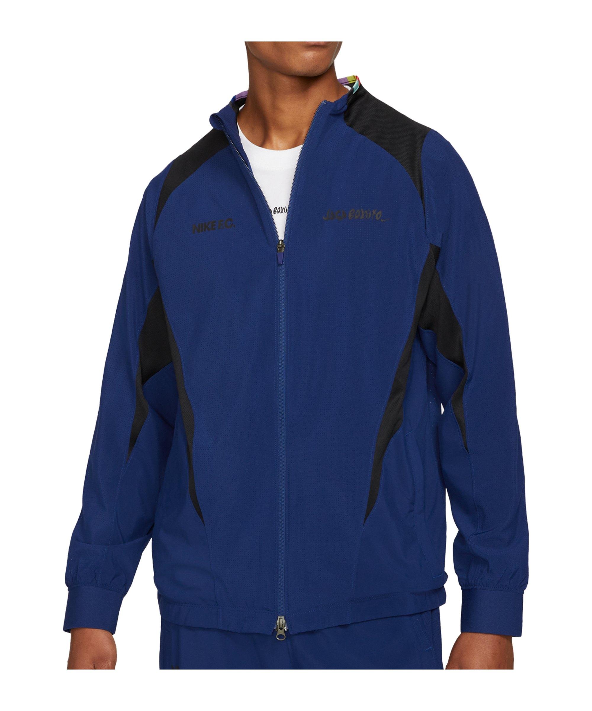 Nike F.C. Joga Bonito Woven Jacke Blau F492 - blau