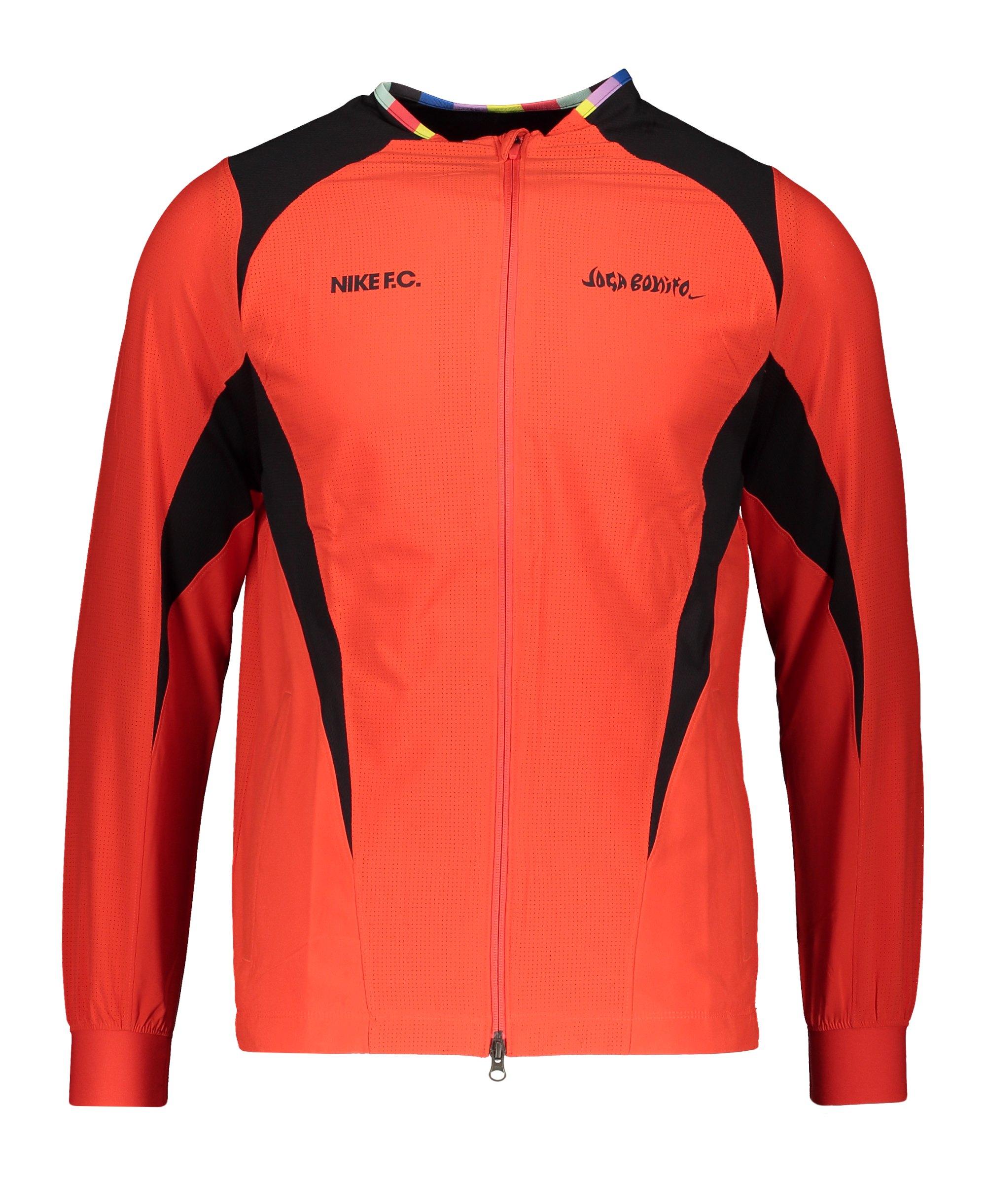 Nike F.C. Joga Bonito Woven Jacke Rot F673 - rot