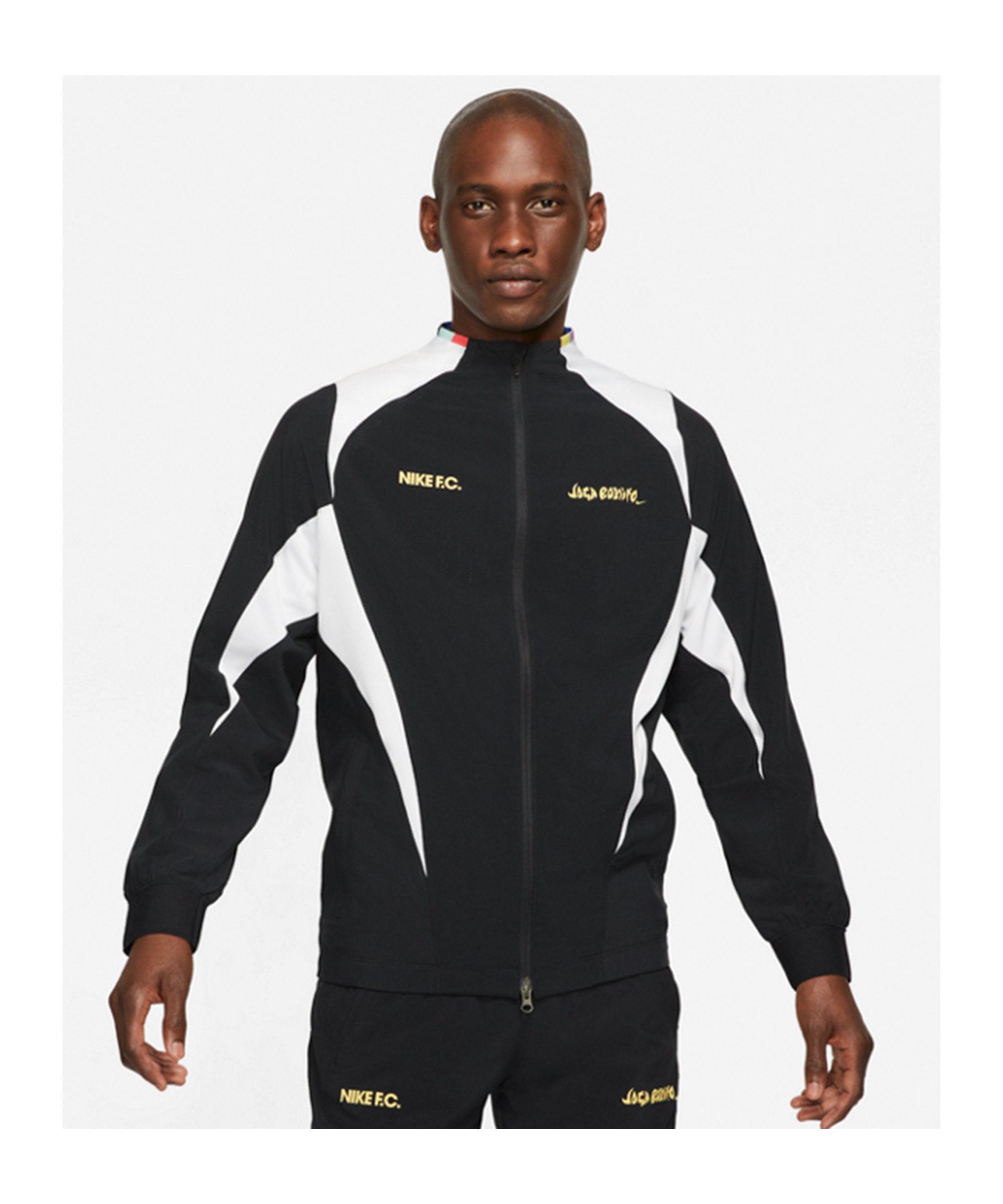Nike F.C. Joga Bonito Woven Jacke Schwarz F010 - schwarz