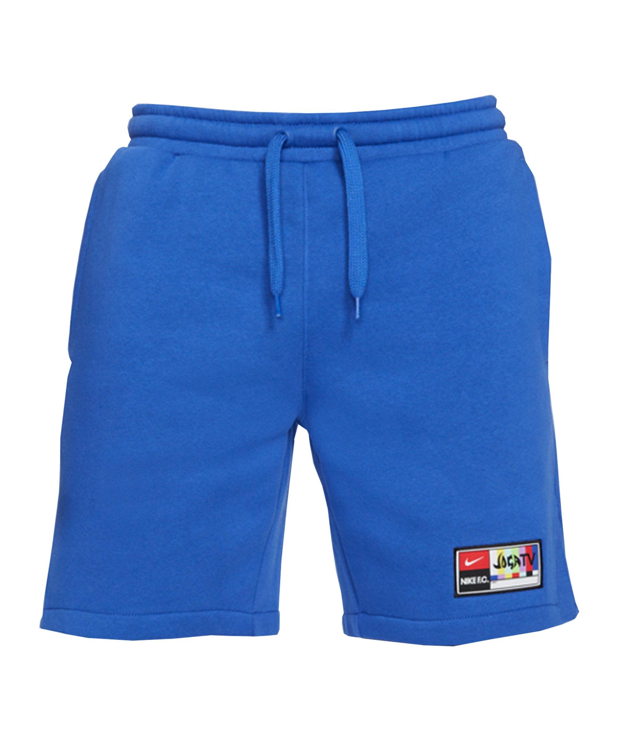 Nike F.C. Joga Bonito Fleece Short Blau F480 - blau