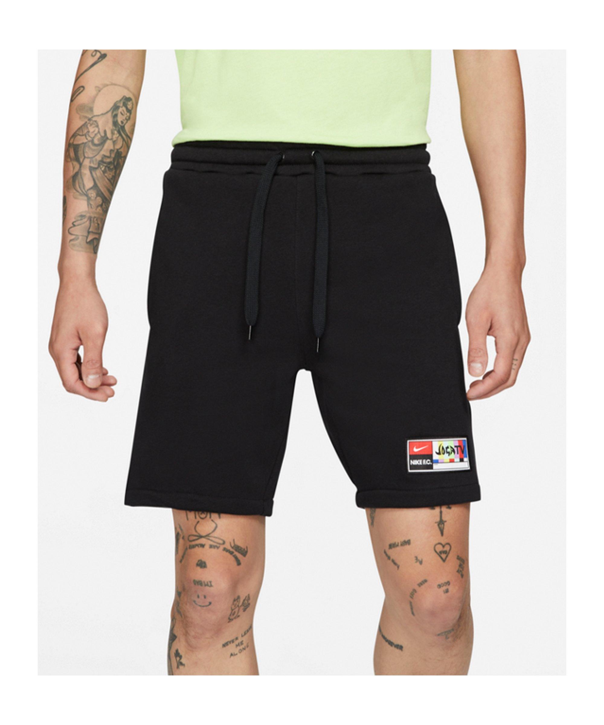 Nike F.C. Joga Bonito Fleece Short Schwarz F010 - schwarz