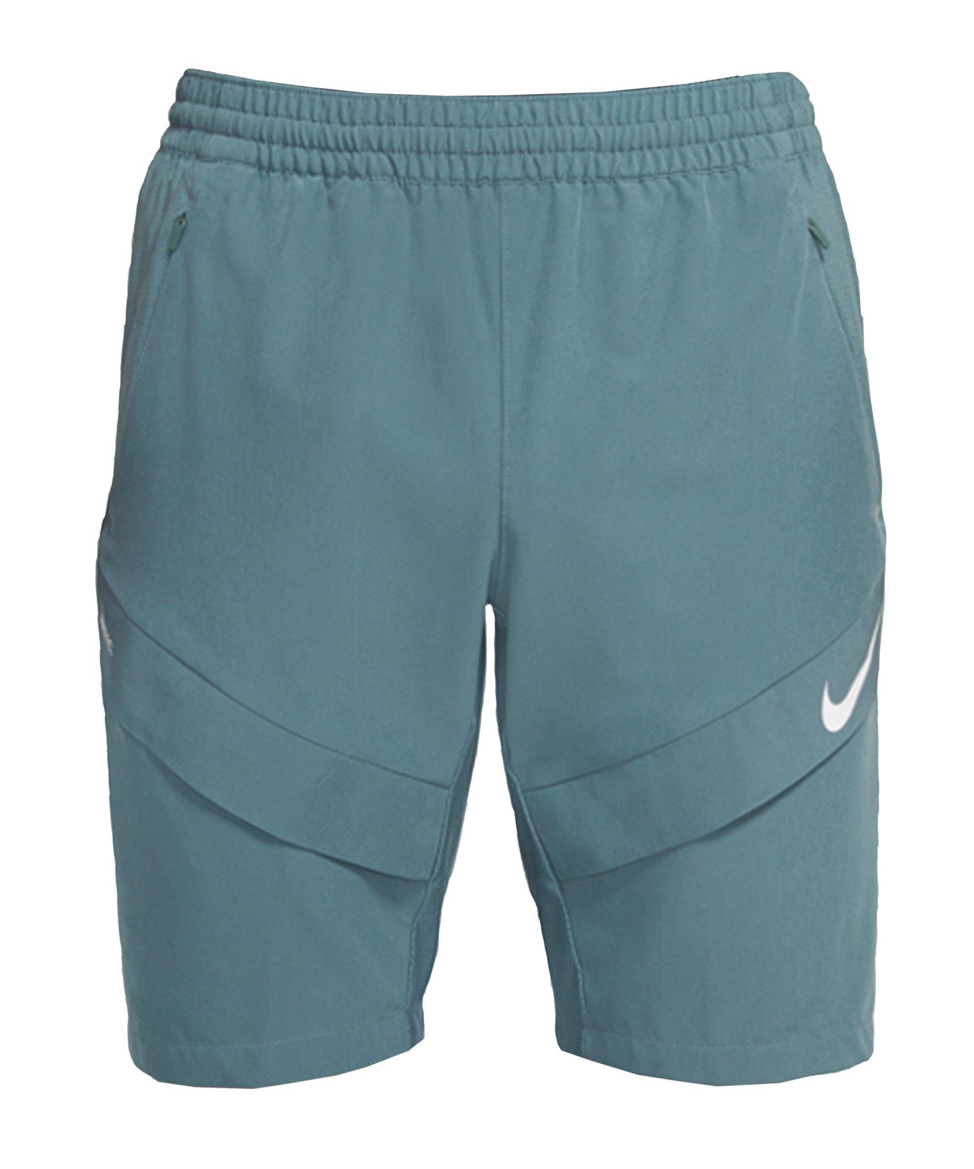 Nike F.C. Elite M18 Woven Short Grau Weiss F387 - gruen