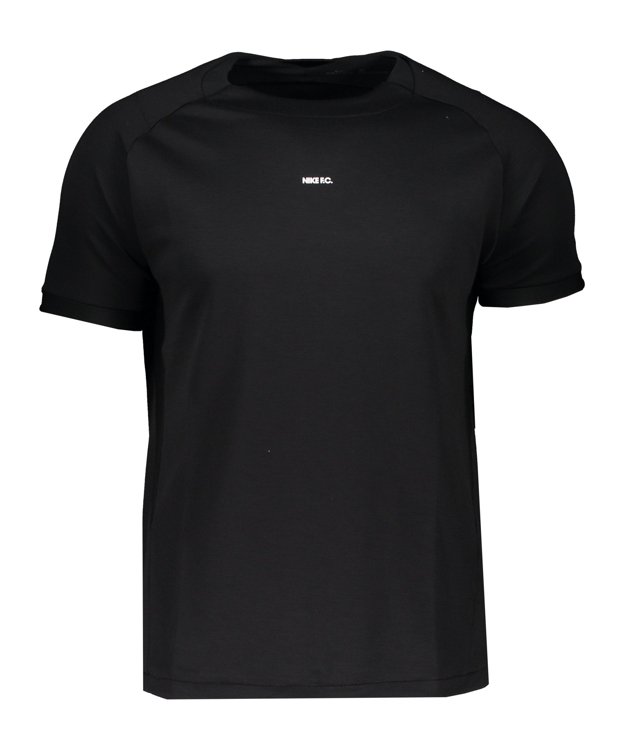 Nike F.C. Elite T-Shirt Schwarz Weiss F393 - schwarz