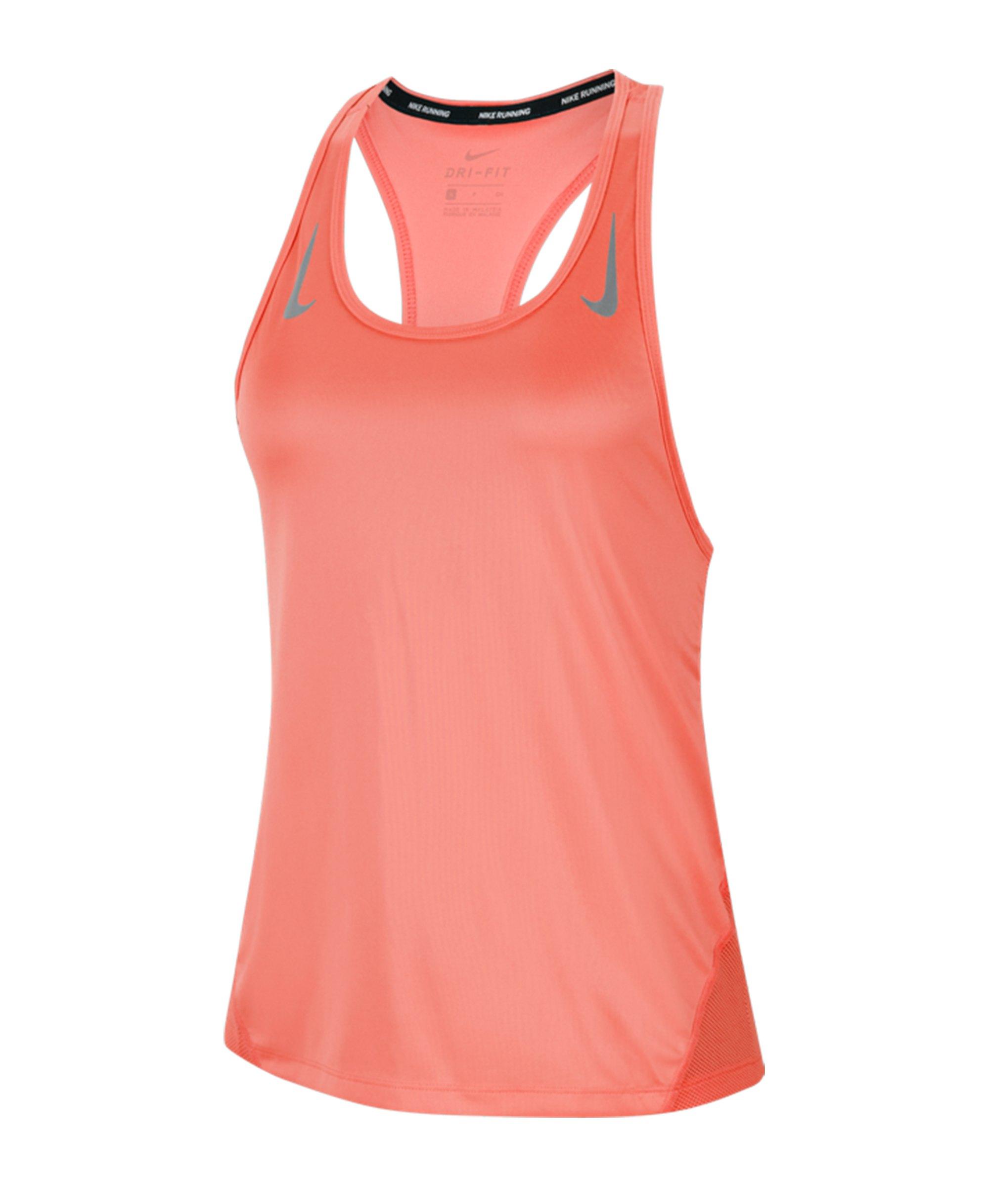 Nike Miler Tanktop Running Damen F854 - orange