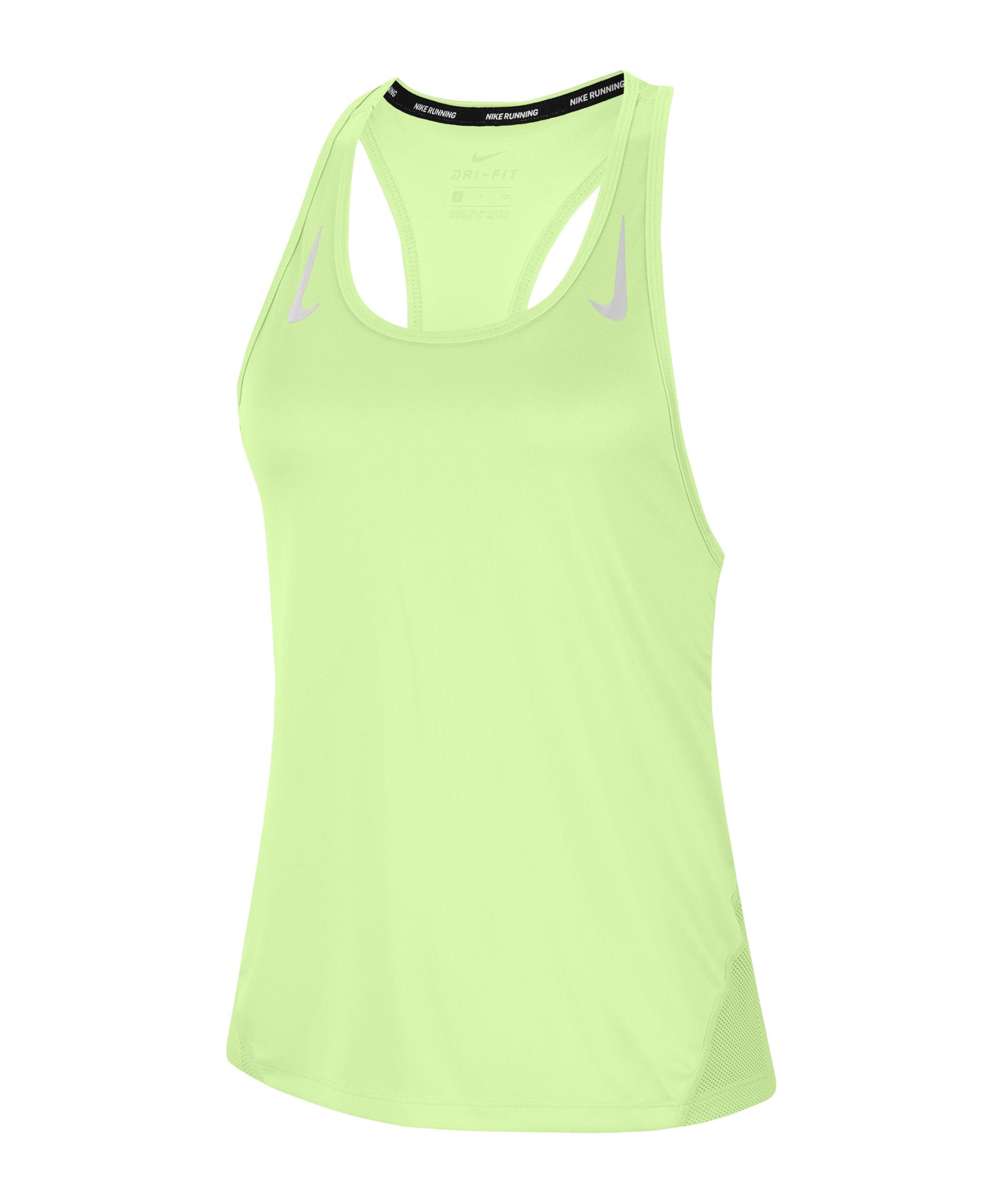 Nike Miler Tanktop Running Damen Gelb F701 - gelb