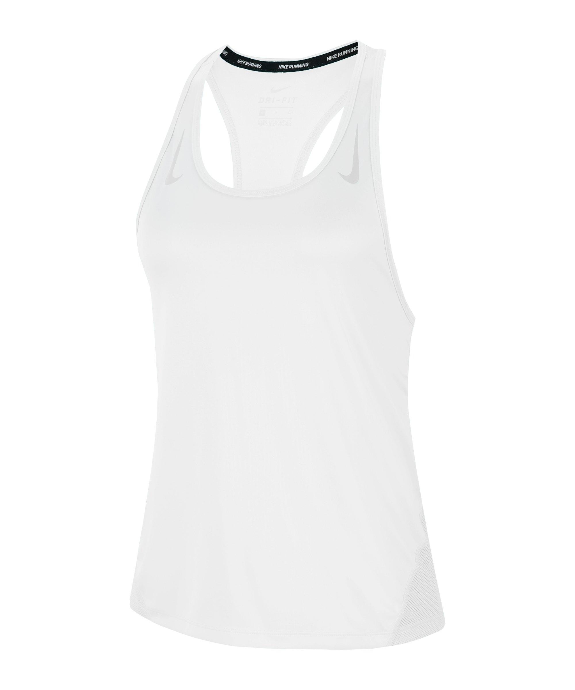 Nike Miler Tanktop Running Damen Weiss Silber F100 - weiss
