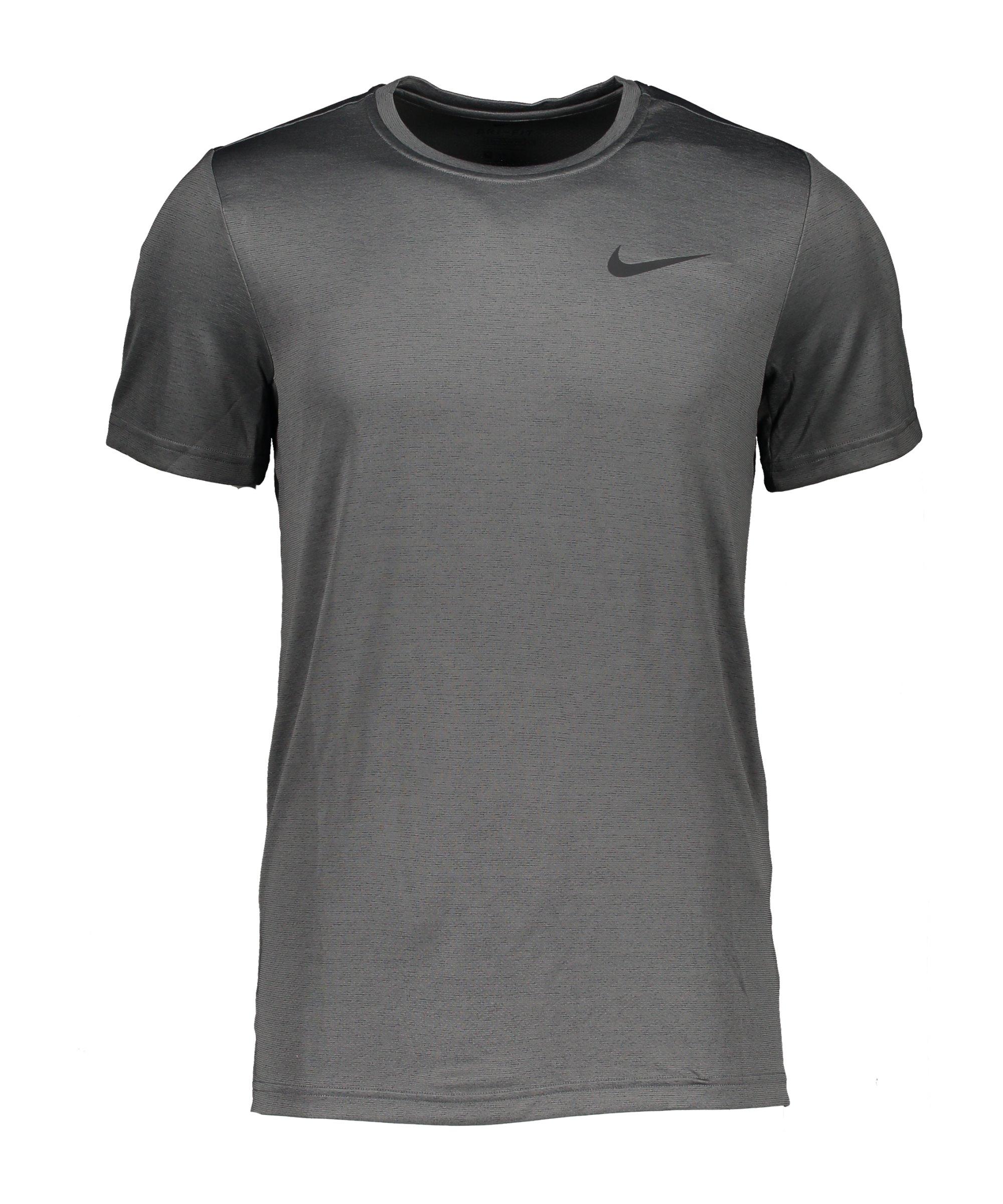 Nike Superset T-Shirt Grau Schwarz F068 - grau
