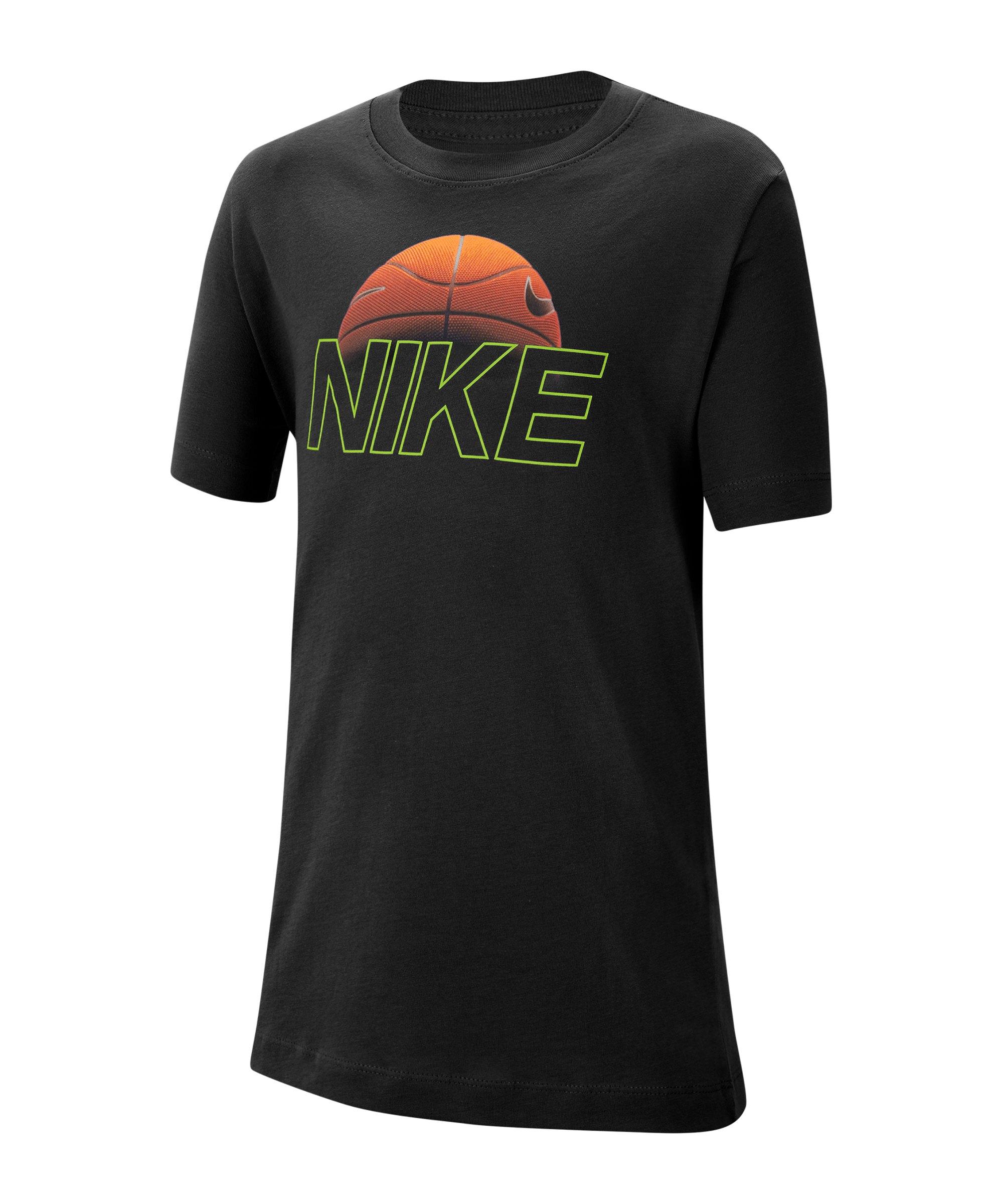 Nike Basketball T-Shirt Schwarz F010 - schwarz